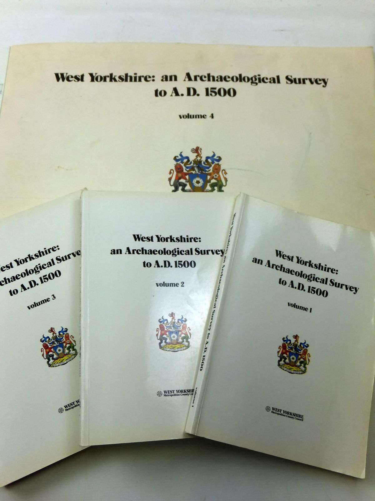 Photo of WEST YORKSHIRE: AN ARCHAEOLOGICAL SURVEY TO A.D. 1500 (4 VOLUMES)