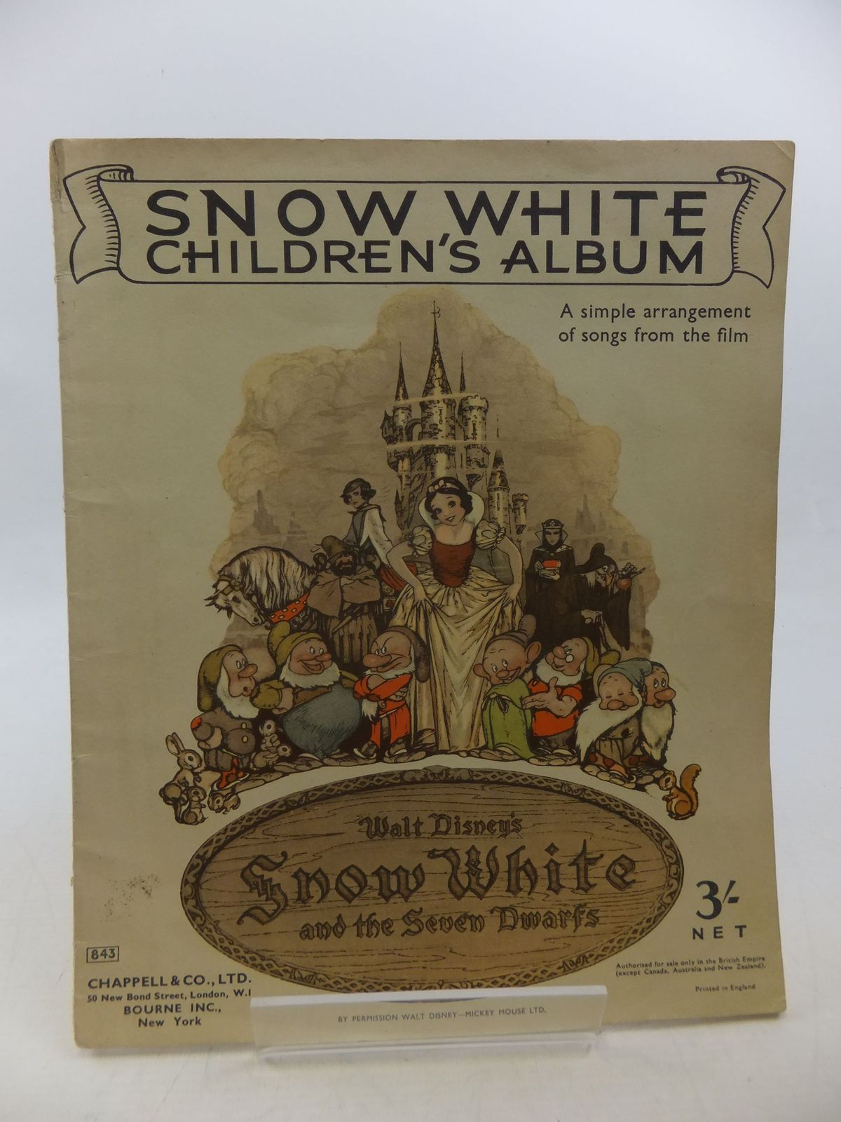 Photo of SNOW WHITE CHILDREN'S ALBUM written by Disney, Walt illustrated by Disney, Walt published by Chappell & Co. Ltd. (STOCK CODE: 2112926)  for sale by Stella & Rose's Books