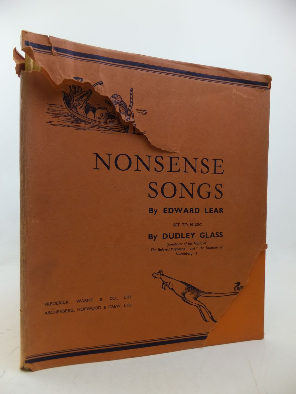 Photo of NONSENSE SONGS written by Lear, Edward<br />Glass, Dudley illustrated by Lear, Edward published by Frederick Warne & Co Ltd. (STOCK CODE: 2113142)  for sale by Stella & Rose's Books