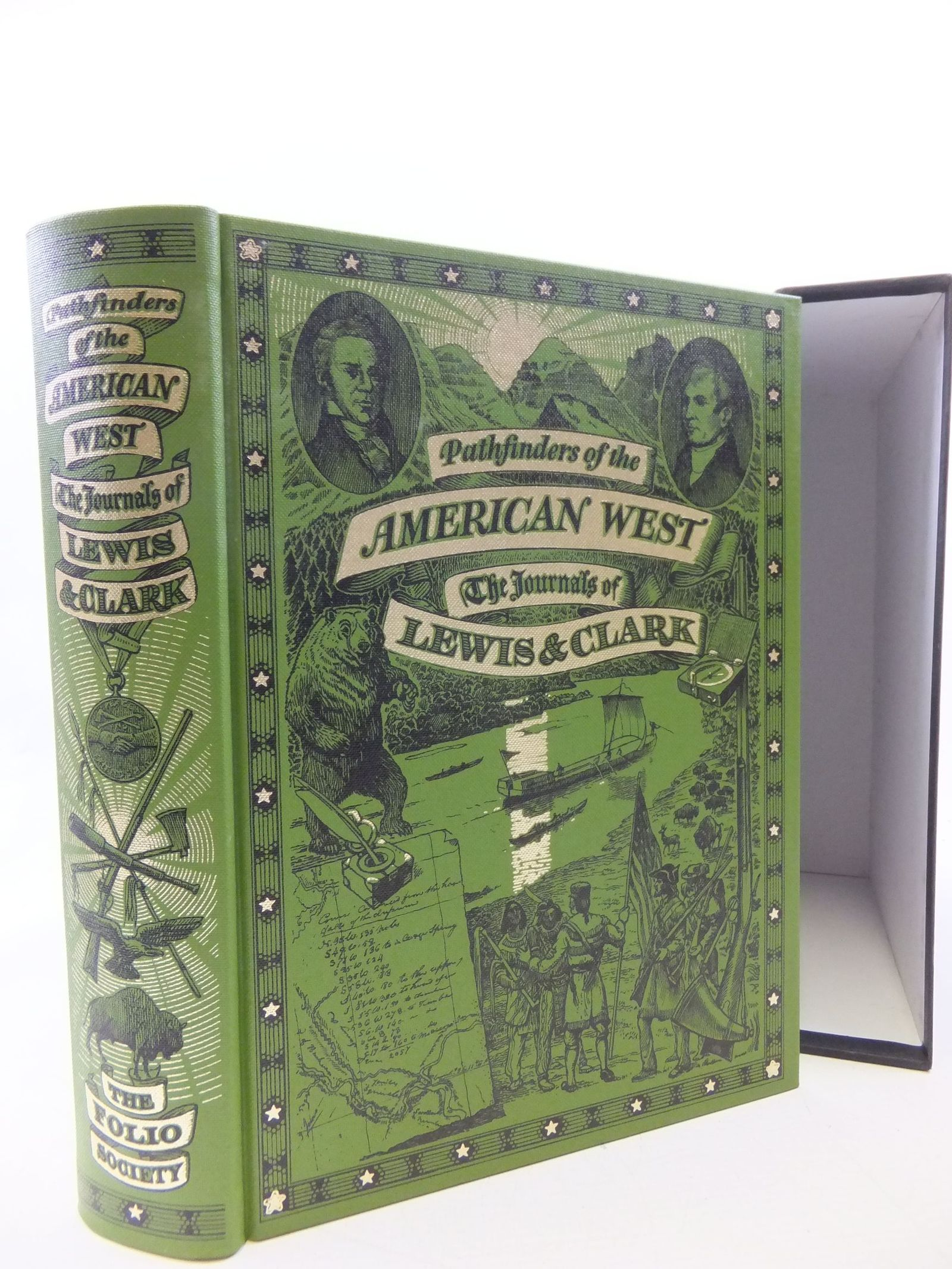 Photo of PATHFINDERS OF THE AMERICAN WEST written by Lewis, Meriwether<br />Clark, William<br />Bergon, Frank published by Folio Society (STOCK CODE: 2113665)  for sale by Stella & Rose's Books