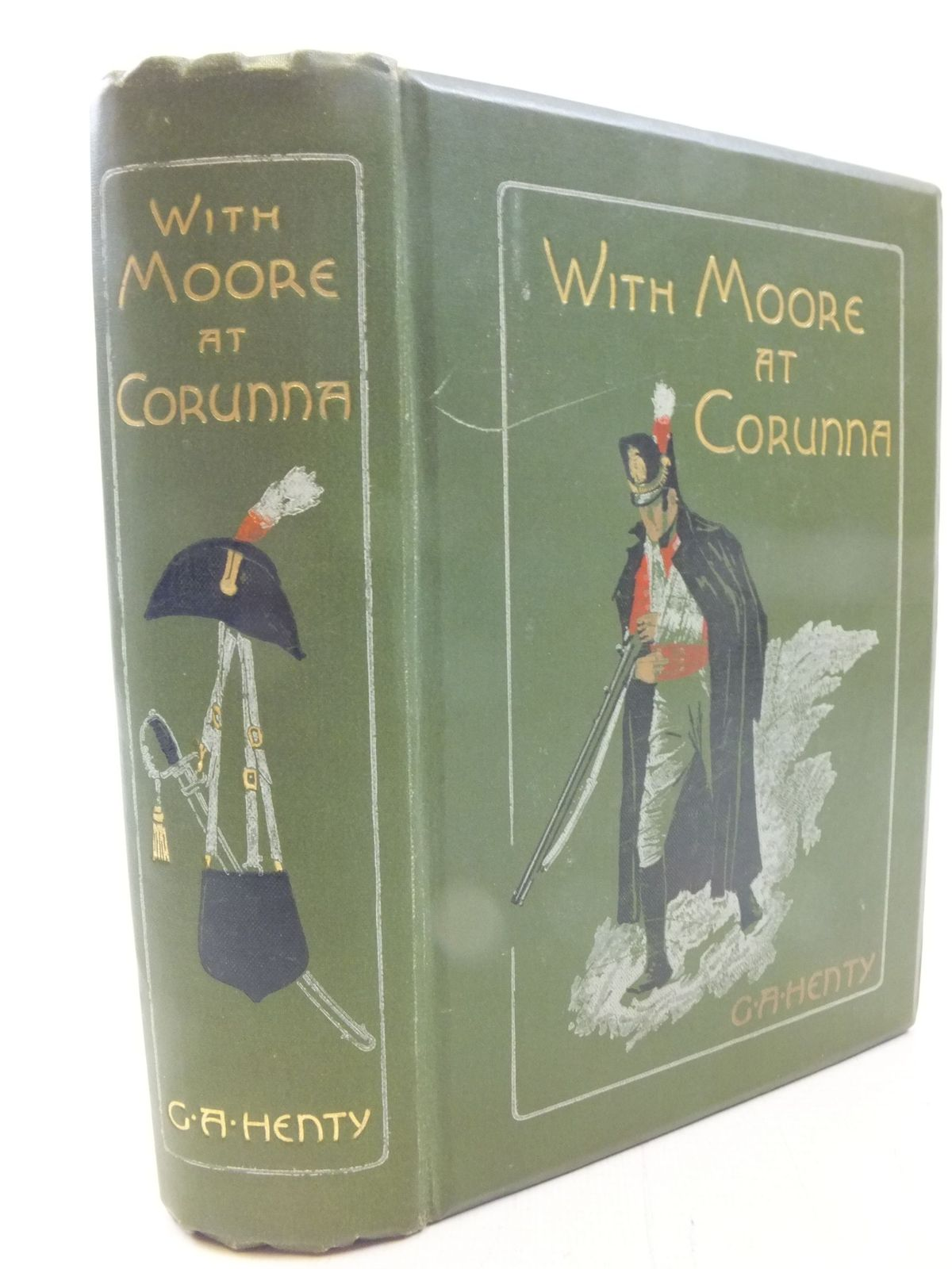 Photo of WITH MOORE AT CORUNNA written by Henty, G.A. illustrated by Paget, Wal published by Blackie & Son Ltd. (STOCK CODE: 2114707)  for sale by Stella & Rose's Books
