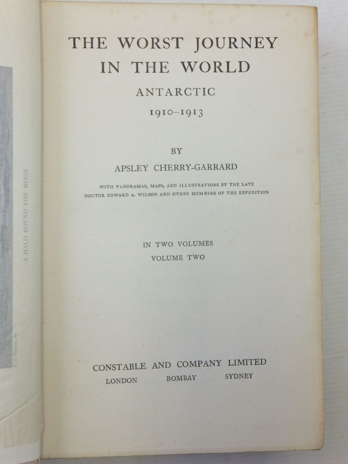 THE WORST JOURNEY IN THE WORLD 1910 1913 VOLUME II Written By Cherry