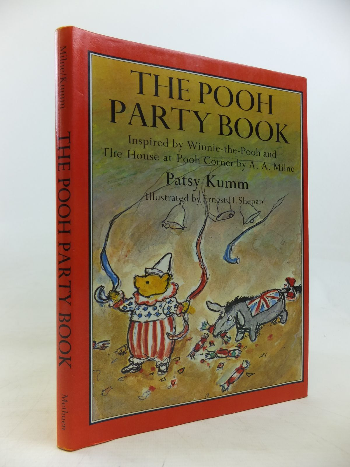 Photo of THE POOH PARTY BOOK written by Milne, A.A.<br />Kumm, Patsy illustrated by Shepard, E.H. published by Methuen Children's Books Ltd. (STOCK CODE: 2115761)  for sale by Stella & Rose's Books