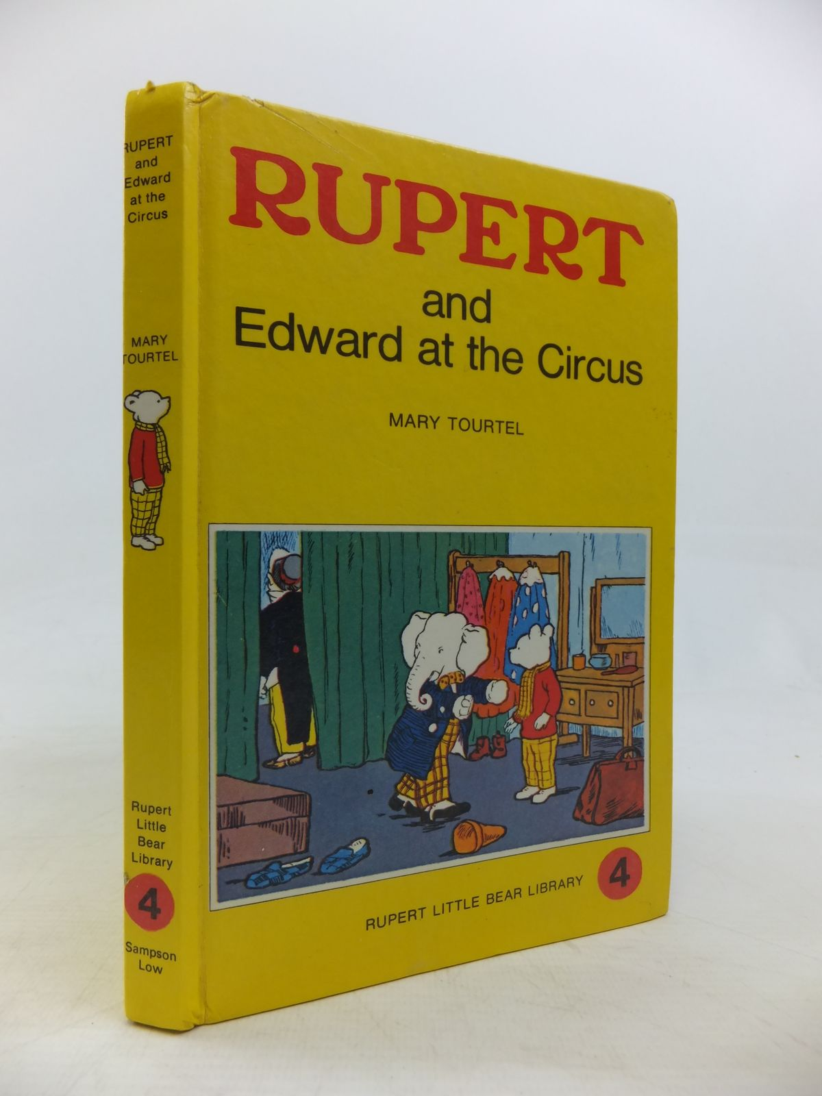 Photo of RUPERT AND EDWARD AT THE CIRCUS - RUPERT LITTLE BEAR LIBRARY No. 4 (WOOLWORTH) written by Tourtel, Mary illustrated by Tourtel, Mary published by Sampson Low, Marston & Co. (STOCK CODE: 2115766)  for sale by Stella & Rose's Books