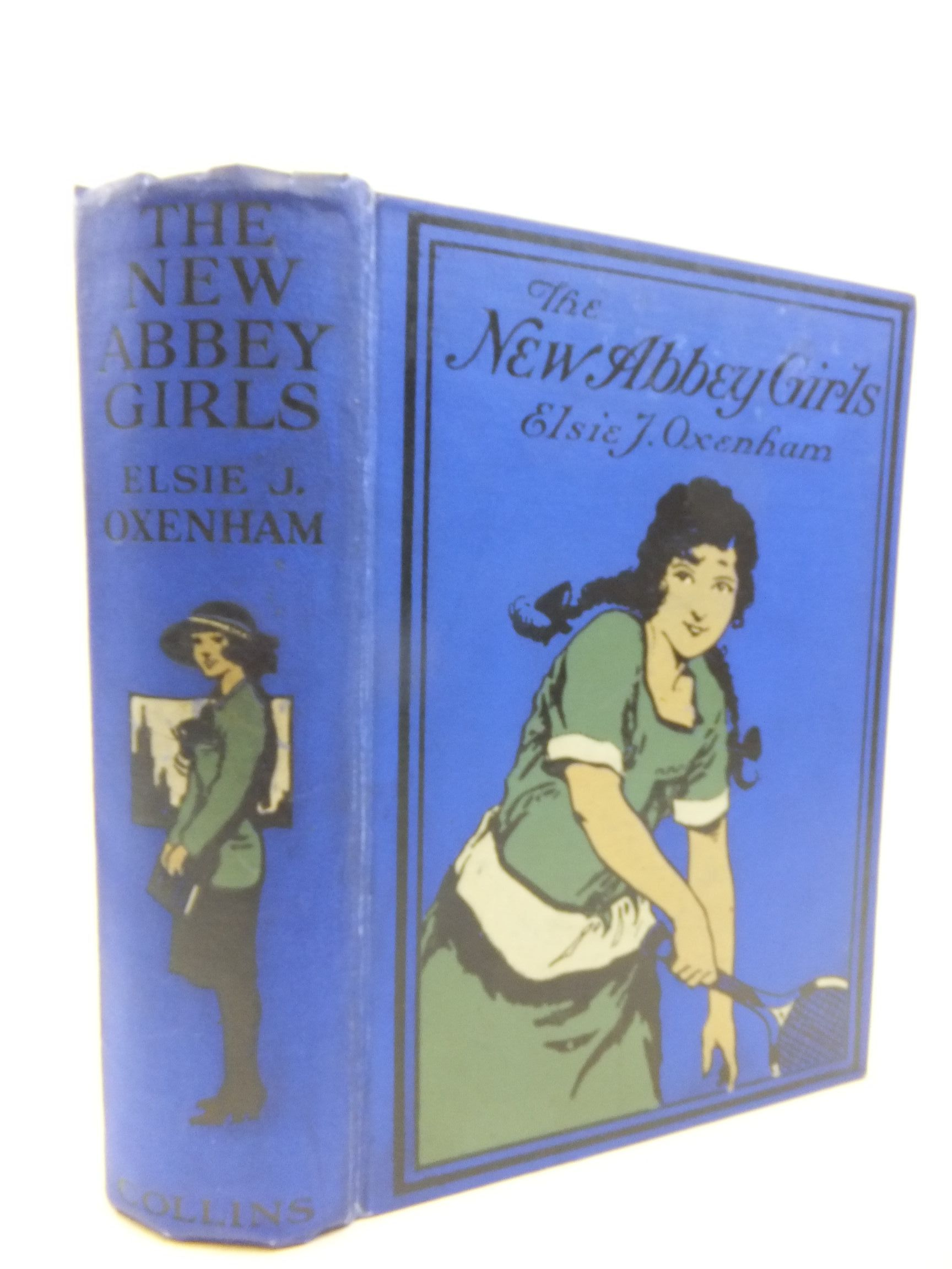 Photo of THE NEW ABBEY GIRLS written by Oxenham, Elsie J. illustrated by Wood, Elsie Anna published by Collins Clear-Type Press (STOCK CODE: 2116032)  for sale by Stella & Rose's Books