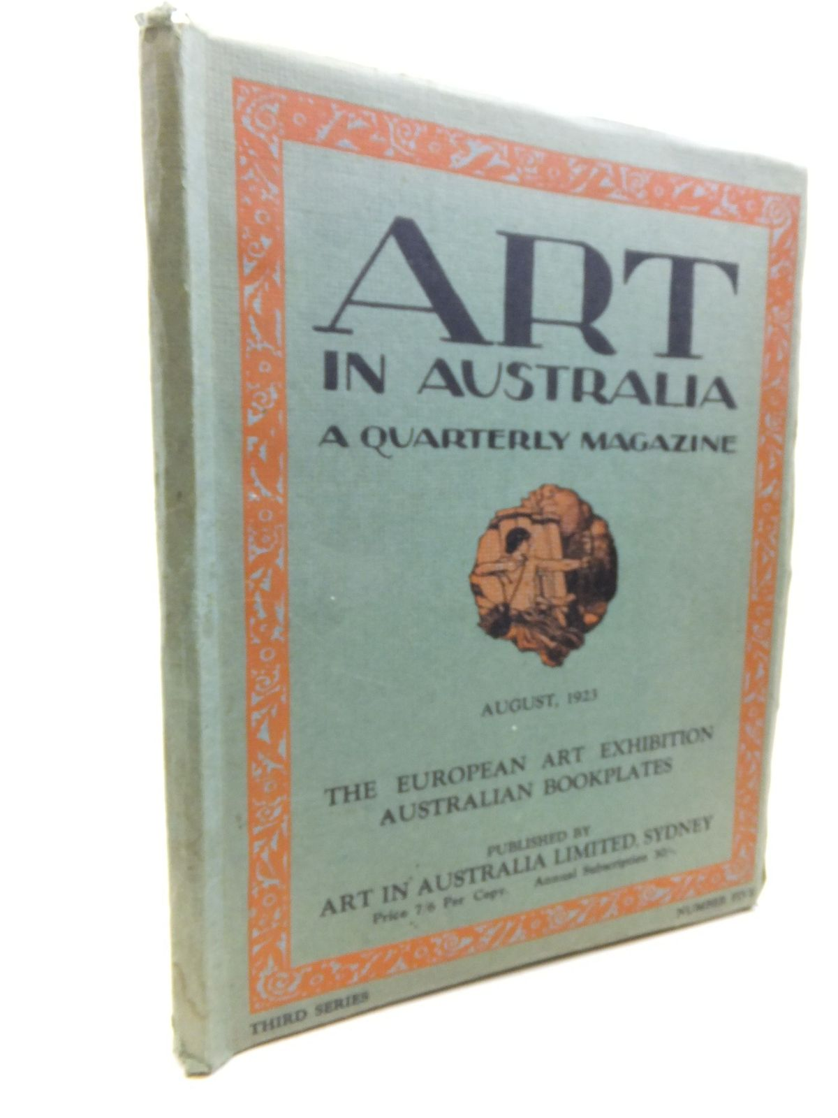 Photo of ART IN AUSTRALIA THIRD SERIES NUMBER FIVE AUGUST 1ST 1923 written by Smith, Sydney Ure<br />Gellert, Leon published by Art In Australia Limited (STOCK CODE: 2116065)  for sale by Stella & Rose's Books