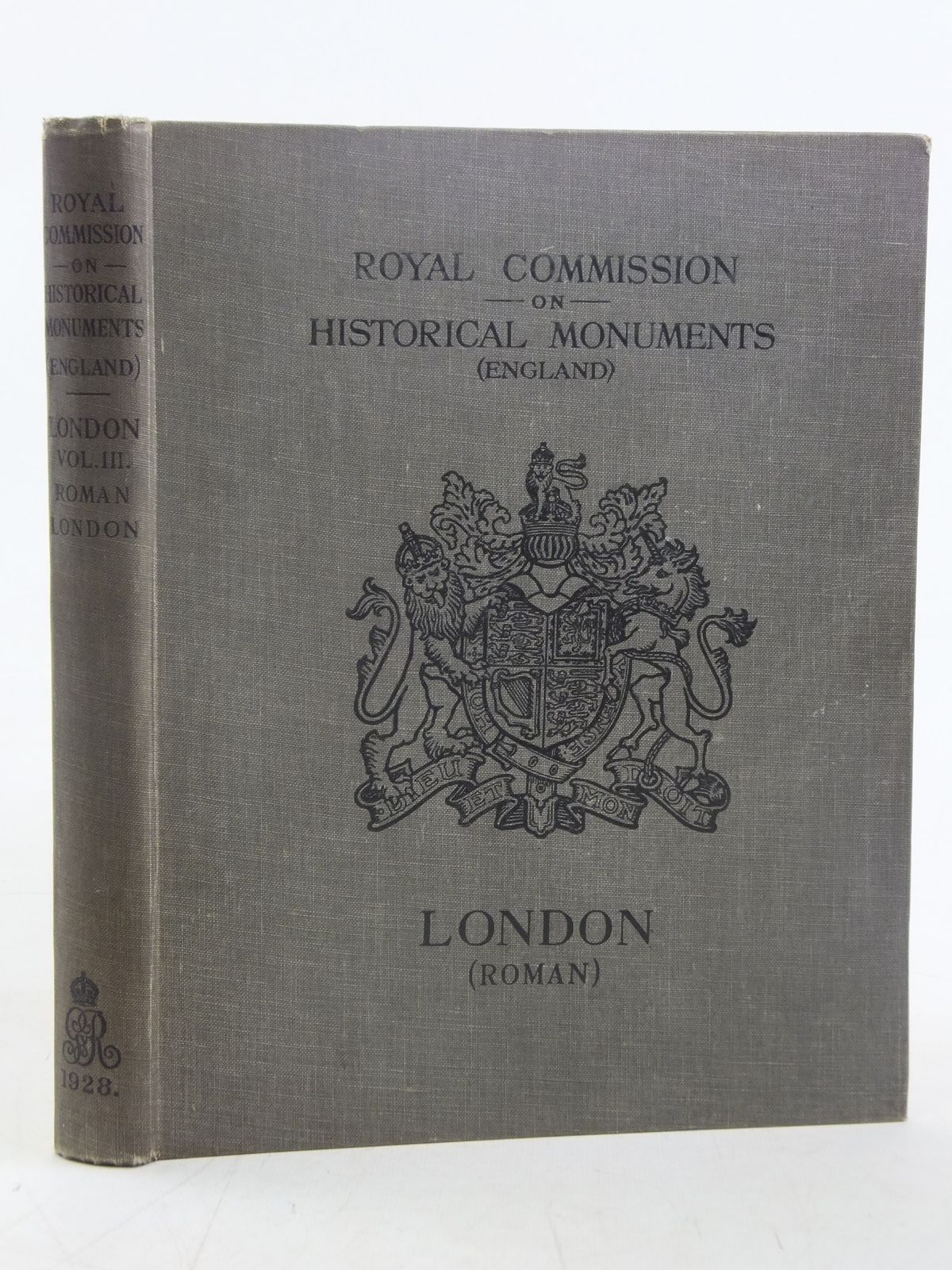 Photo of AN INVENTORY OF THE HISTORICAL MONUMENTS IN LONDON VOLUME III ROMAN LONDON published by His Majesty's Stationery Office (STOCK CODE: 2117062)  for sale by Stella & Rose's Books