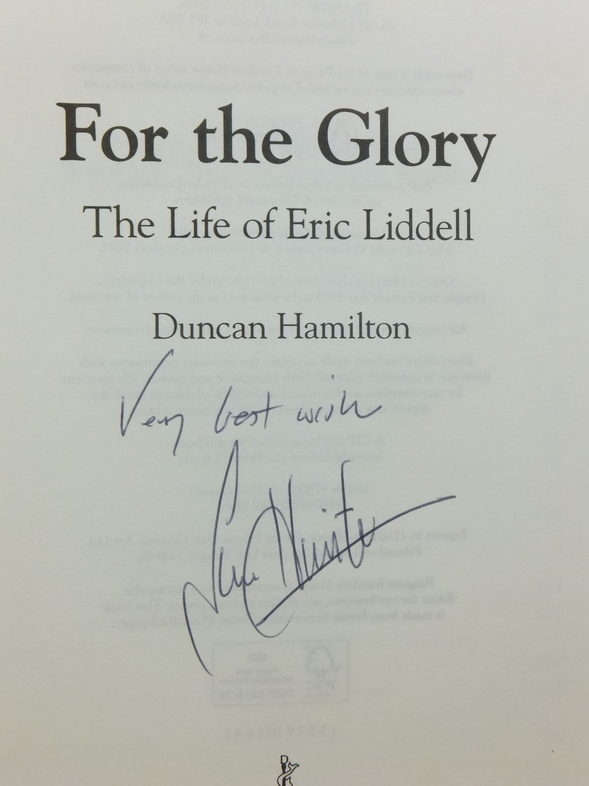 """eric liddell a life Chariots of fire ends with these brief words about eric's life after the olympics: """" eric liddell, missionary, died in occupied china at the end of."""