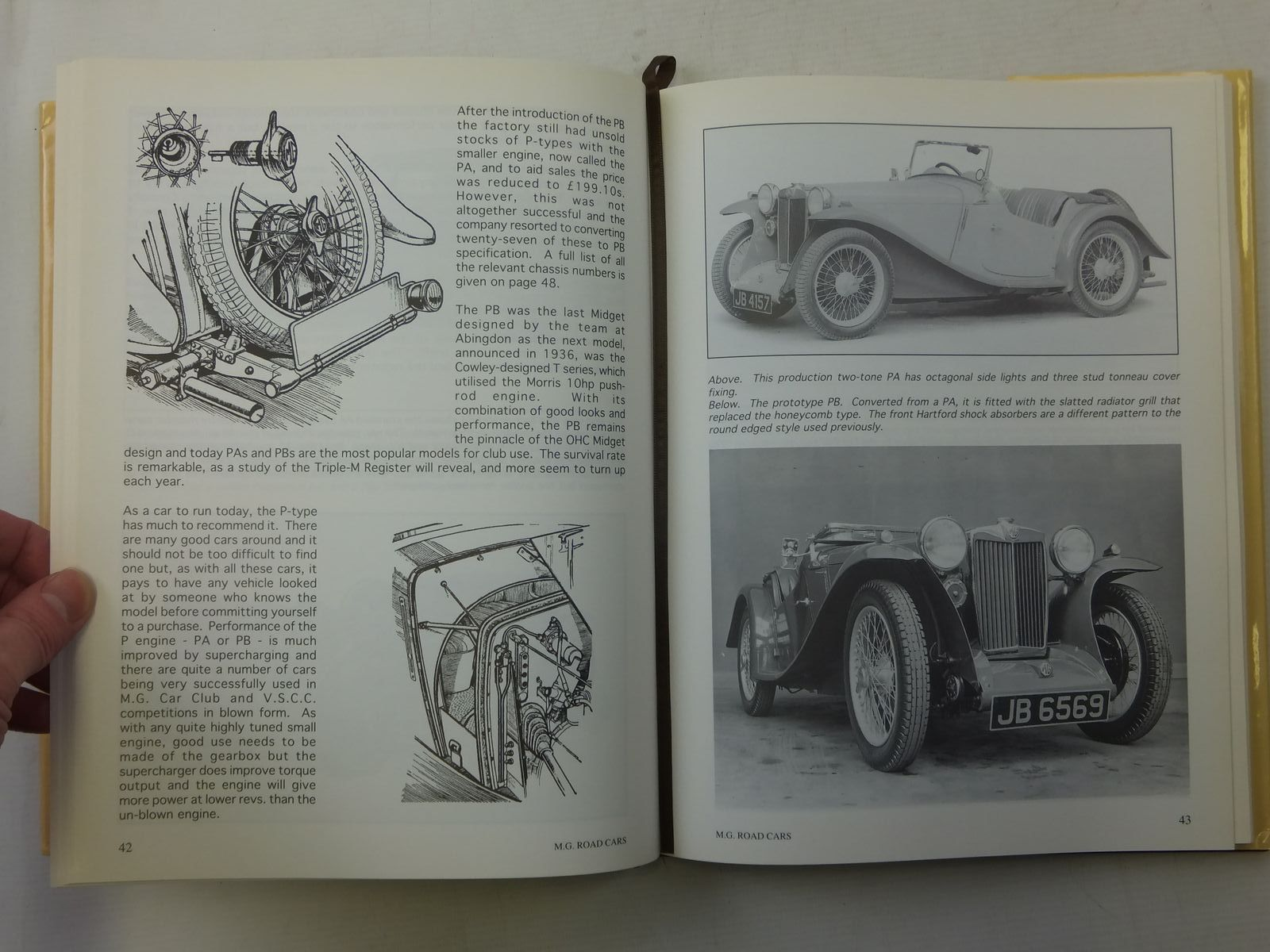 M G  ROAD CARS VOLUME ONE - FOUR CYLINDER O H C  1929-1936 written