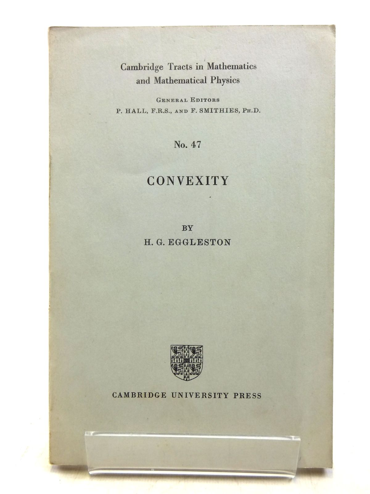 Photo of CONVEXITY written by Eggleston, H.G. published by Cambridge University Press (STOCK CODE: 2118862)  for sale by Stella & Rose's Books