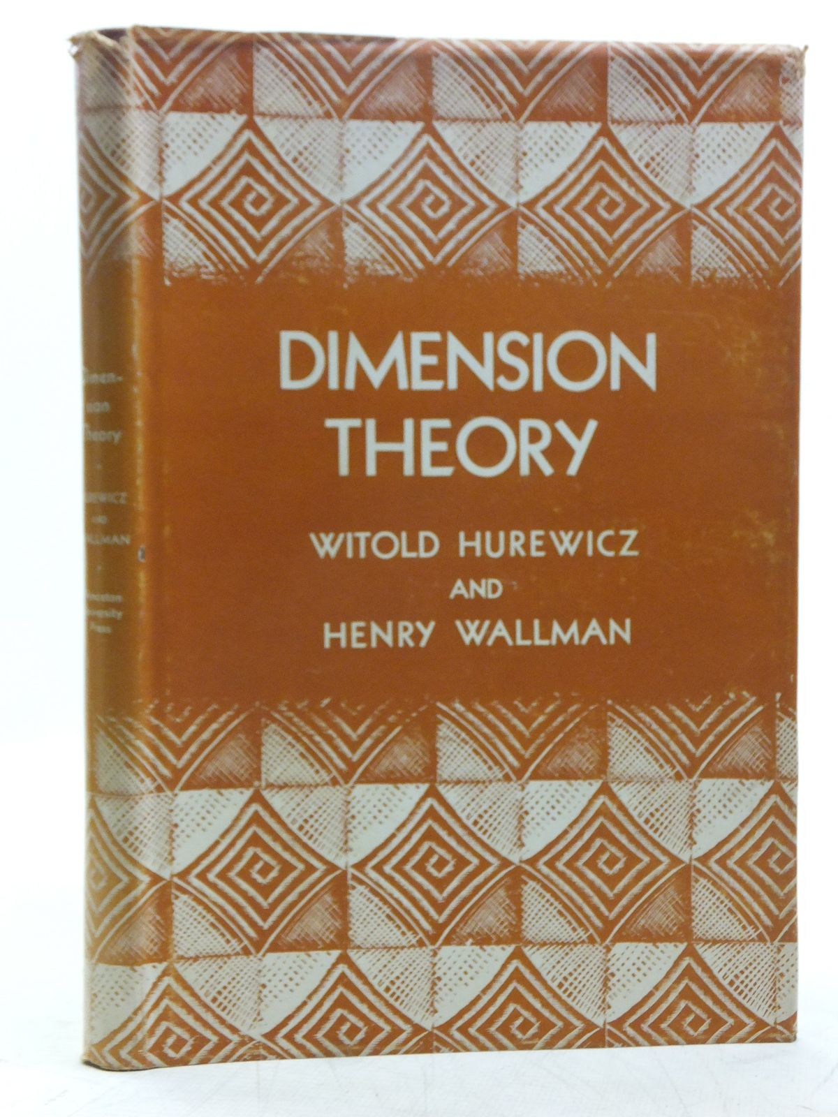 Photo of DIMENSION THEORY written by Hurewicz, Witold<br />Wallman, Henry published by Princeton University Press (STOCK CODE: 2119127)  for sale by Stella & Rose's Books