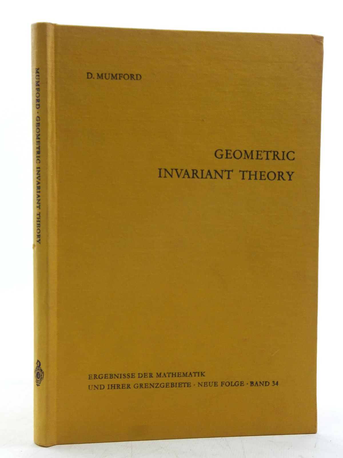 Photo of GEOMETRIC INVARIANT THEORY written by Mumford, David published by Springer-Verlag (STOCK CODE: 2119608)  for sale by Stella & Rose's Books