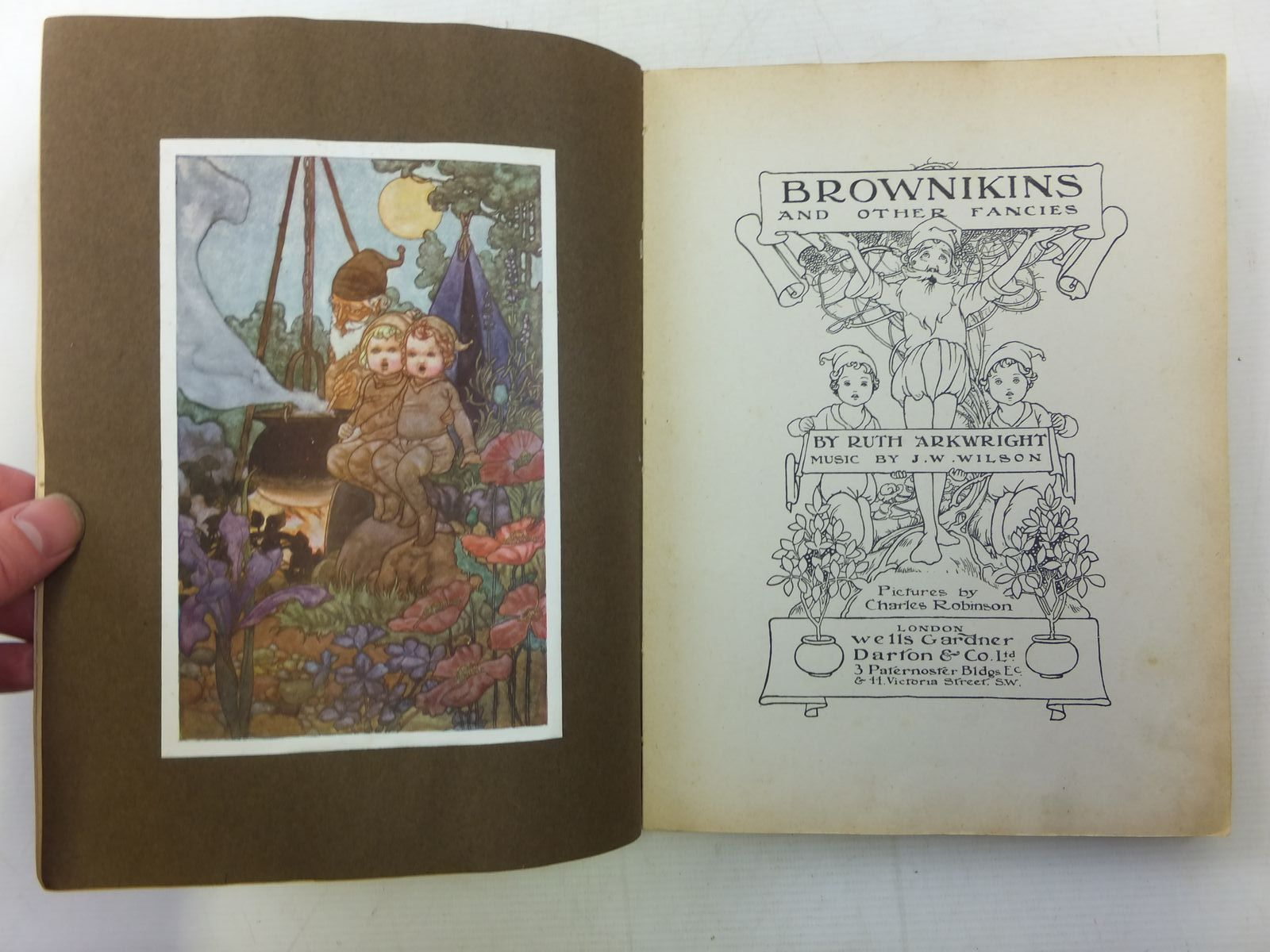 Photo of BROWNIKINS AND OTHER FANCIES written by Arkwright, Ruth illustrated by Robinson, Charles published by Wells Gardner, Darton & Co. Ltd. (STOCK CODE: 2119802)  for sale by Stella & Rose's Books
