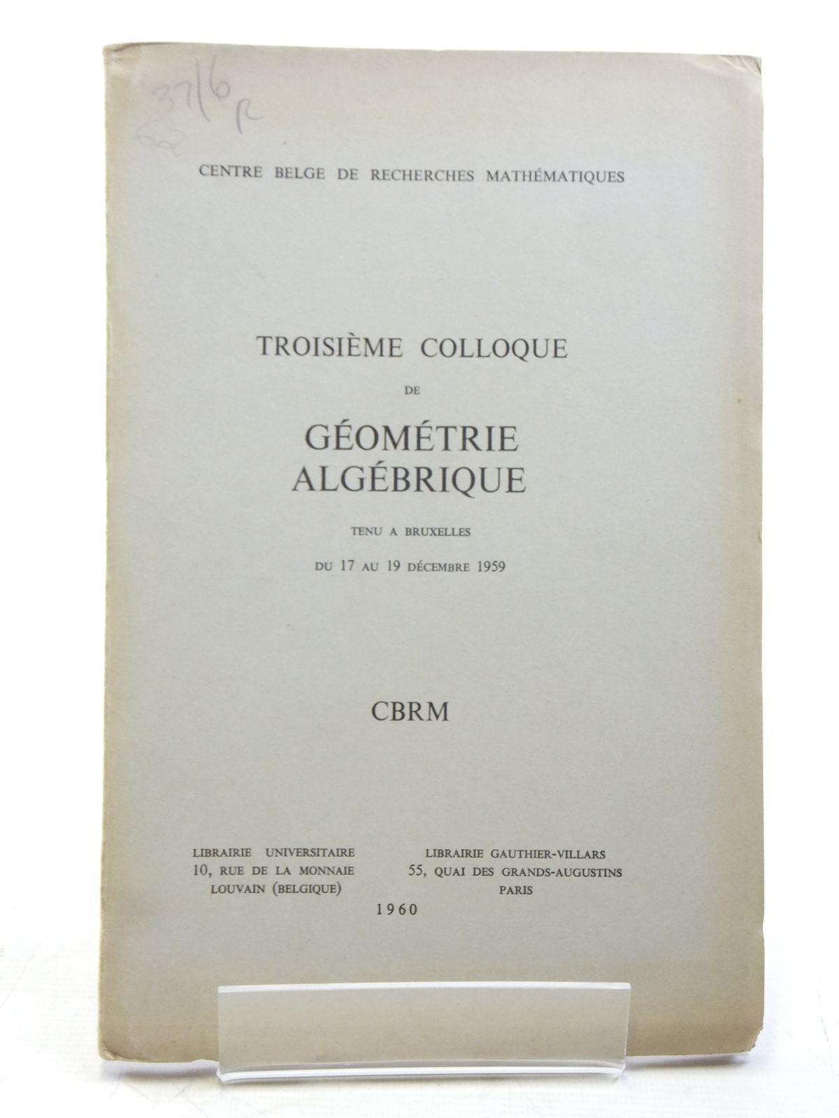 Groupes de Monodromie en Geometrie Algebrique