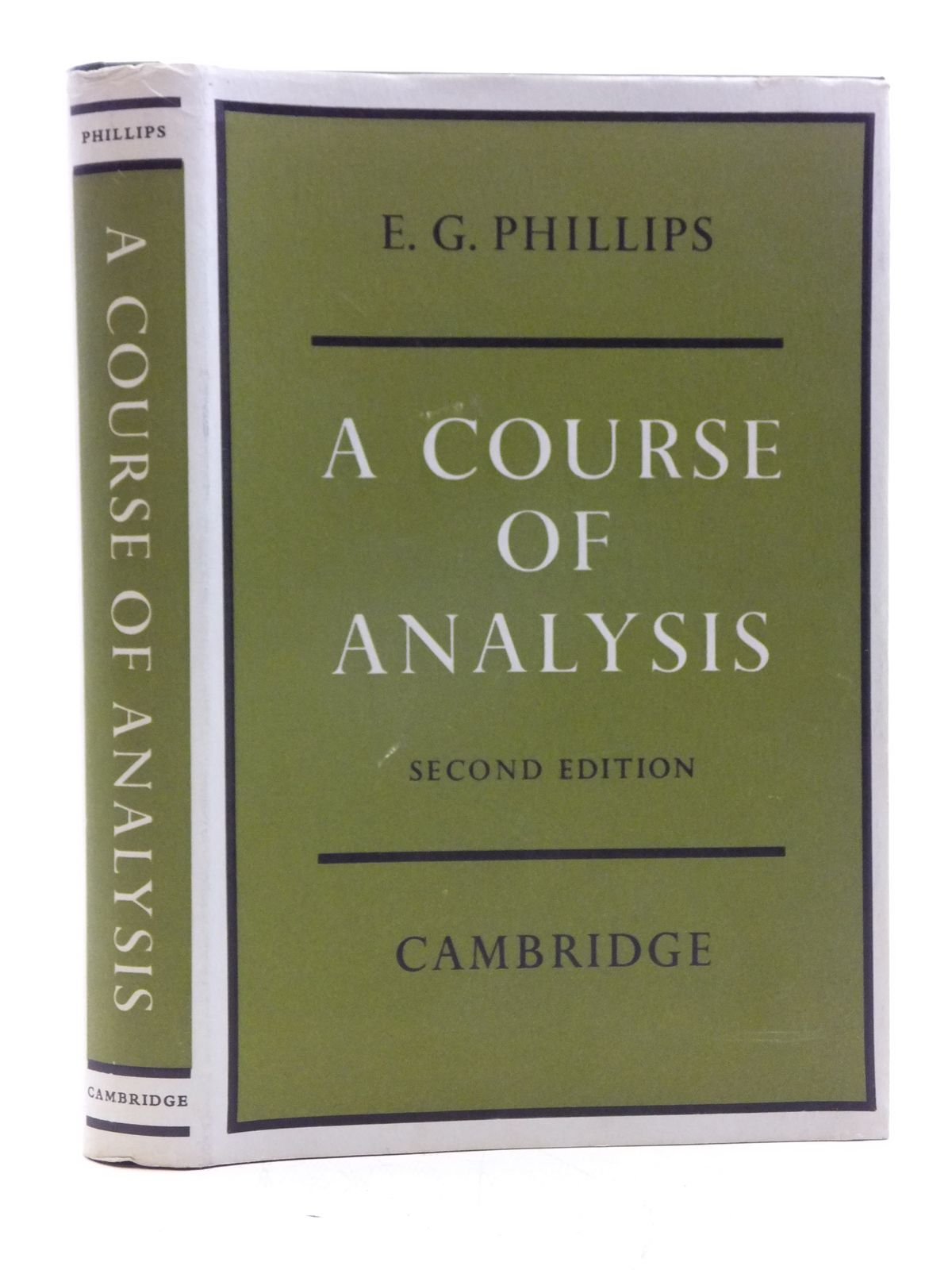 Photo of A COURSE OF ANALYSIS written by Phillips, E.G. published by Cambridge University Press (STOCK CODE: 2120404)  for sale by Stella & Rose's Books