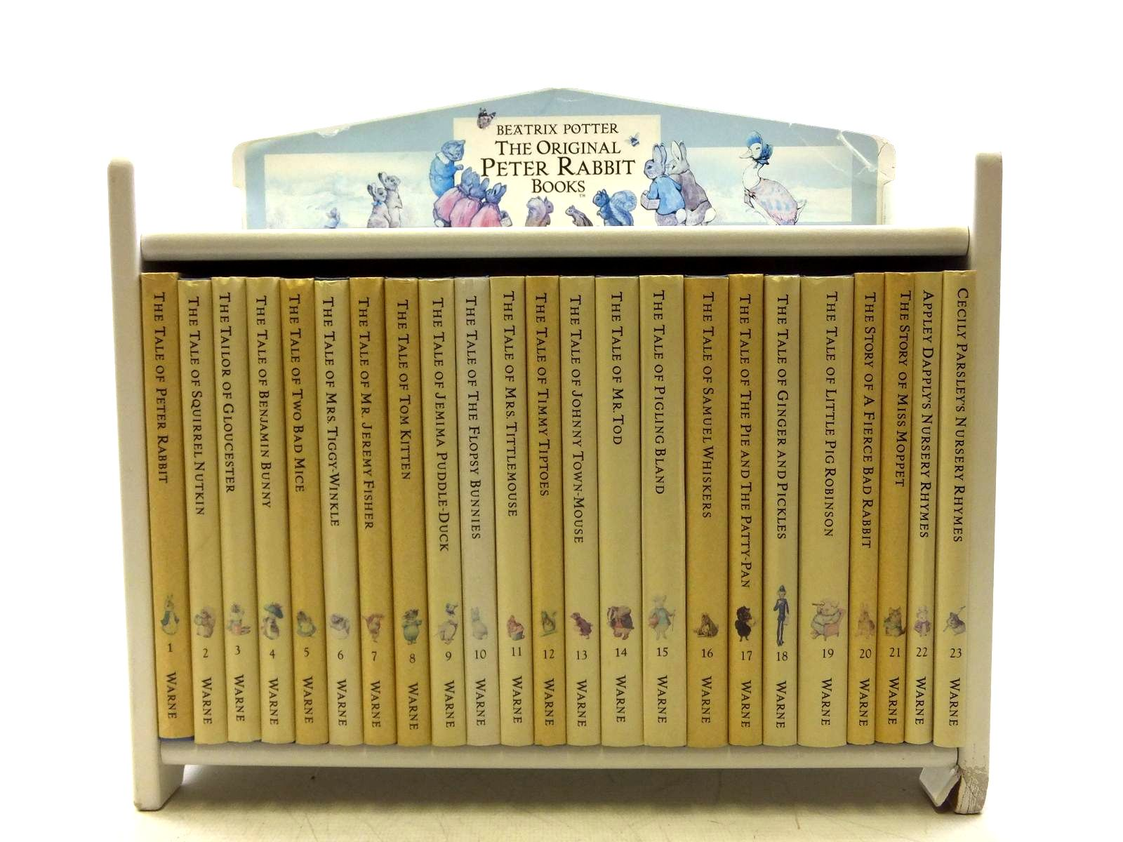 Photo of THE ORIGINAL PETER RABBIT BOOKS (COMPLETE SET OF THE TALES WITH BOOKSHELF)