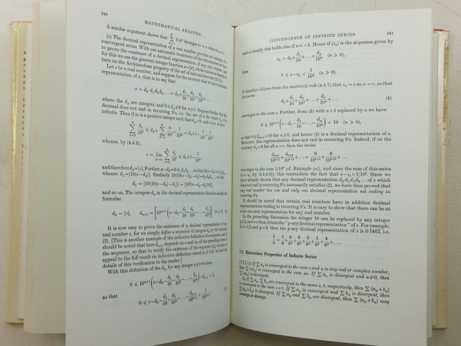 MATHEMATICAL ANALYSIS written by Flett, T M , STOCK CODE: 2120463