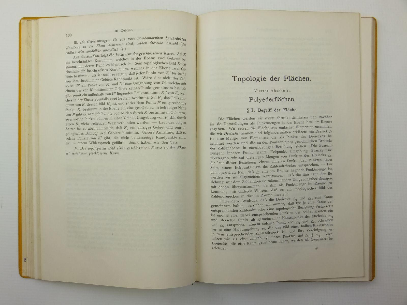 Photo of VORLESUNGEN UBER TOPOLOGIE written by Kerekjarto, B.V. published by Julius Springer (STOCK CODE: 2120871)  for sale by Stella & Rose's Books