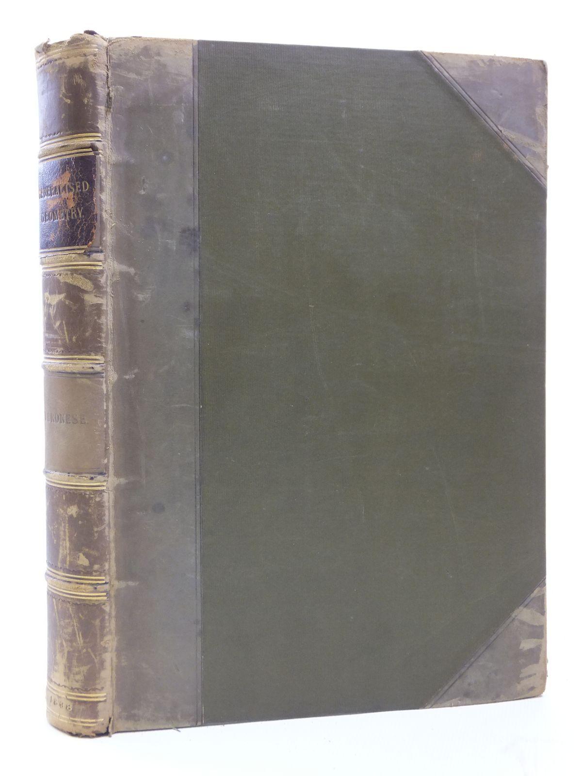 Photo of GRUNDZUGE DER GEOMETRIE VON MEHREREN DIMENSIONEN UND MEHREREN ARTEN GRADLINIGER EINHEITEN IN ELEMENTARER FORM ENTWICKELT written by Veronese, Giuseppe<br />Schepp, A. published by Druck Und Verlag Von B.G. Teubner (STOCK CODE: 2120879)  for sale by Stella & Rose's Books