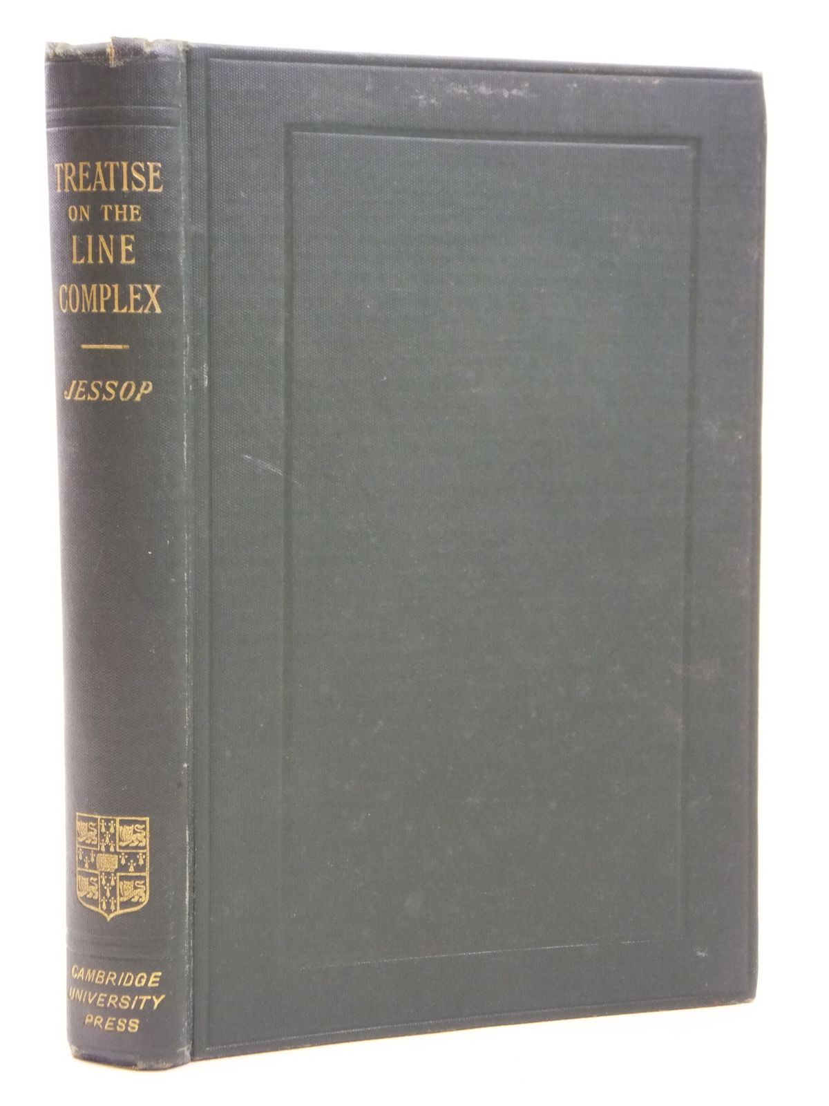 Photo of A TREATISE ON THE LINE COMPLEX written by Jessop, C.M. published by Cambridge University Press (STOCK CODE: 2121009)  for sale by Stella & Rose's Books