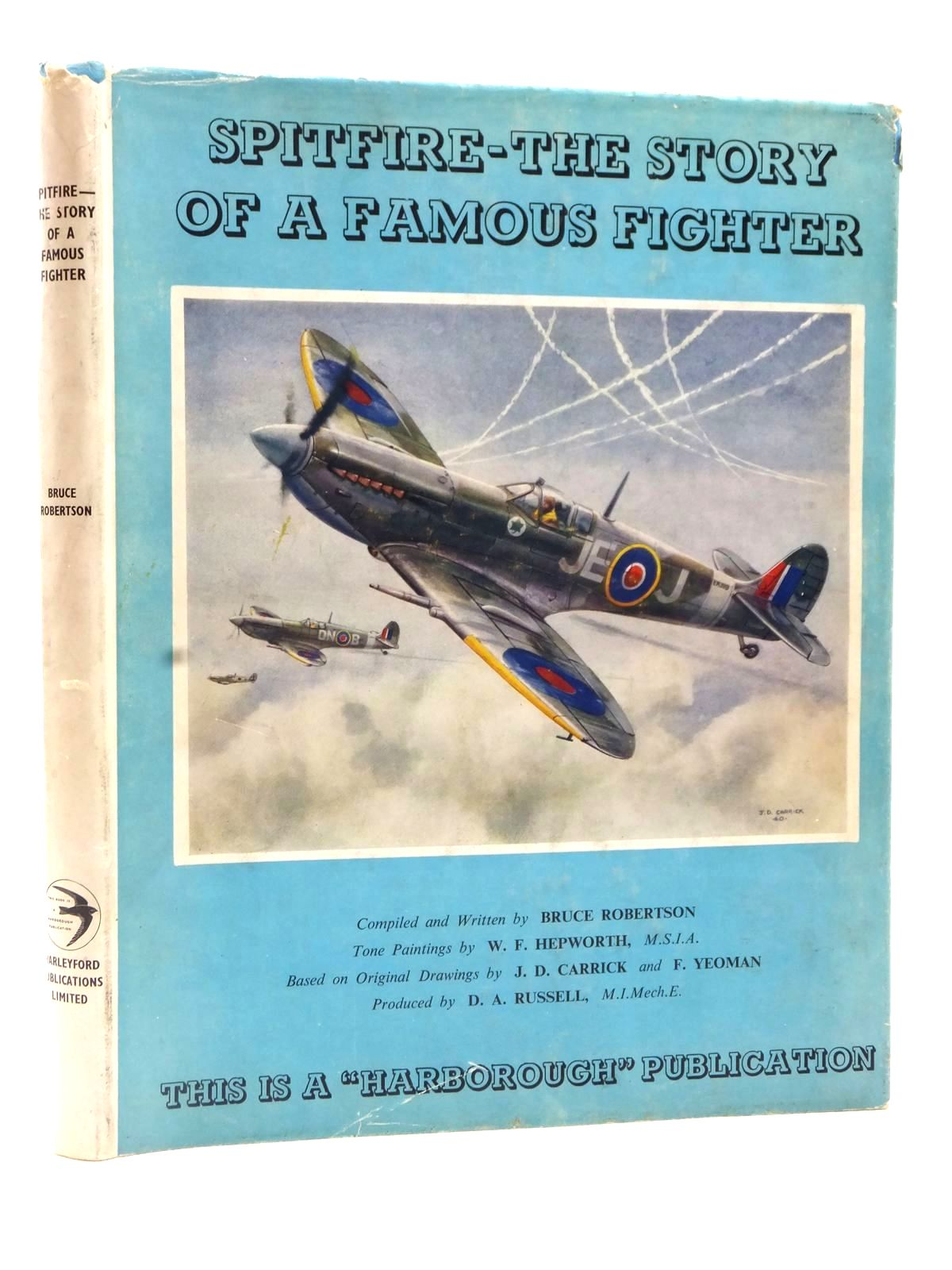 Photo of SPITFIRE THE STORY OF A FAMOUS FIGHTER written by Robertson, Bruce illustrated by Hepworth, W.F. published by Harleyford Publications Limited (STOCK CODE: 2122697)  for sale by Stella & Rose's Books