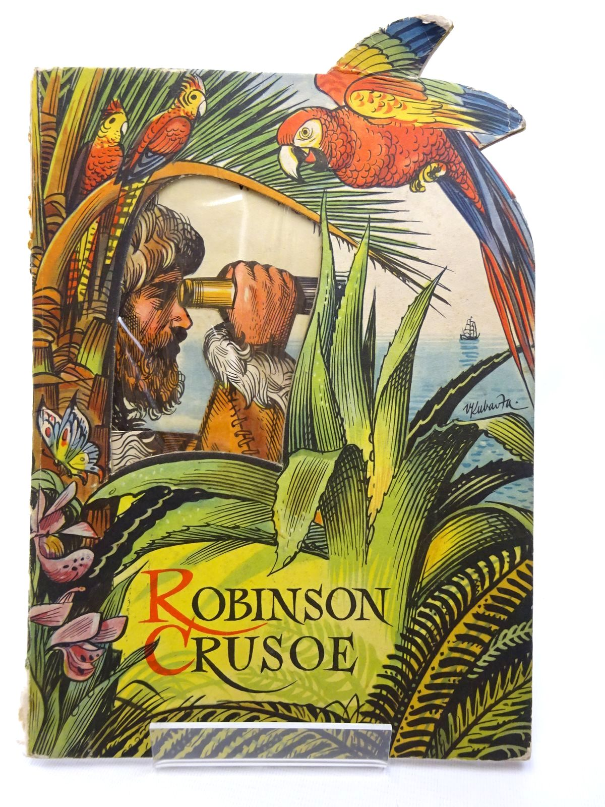 Photo of ROBINSON CRUSOE illustrated by Kubasta, Vojtech published by Bancroft & Co.(Publishers) Ltd. (STOCK CODE: 2124282)  for sale by Stella & Rose's Books