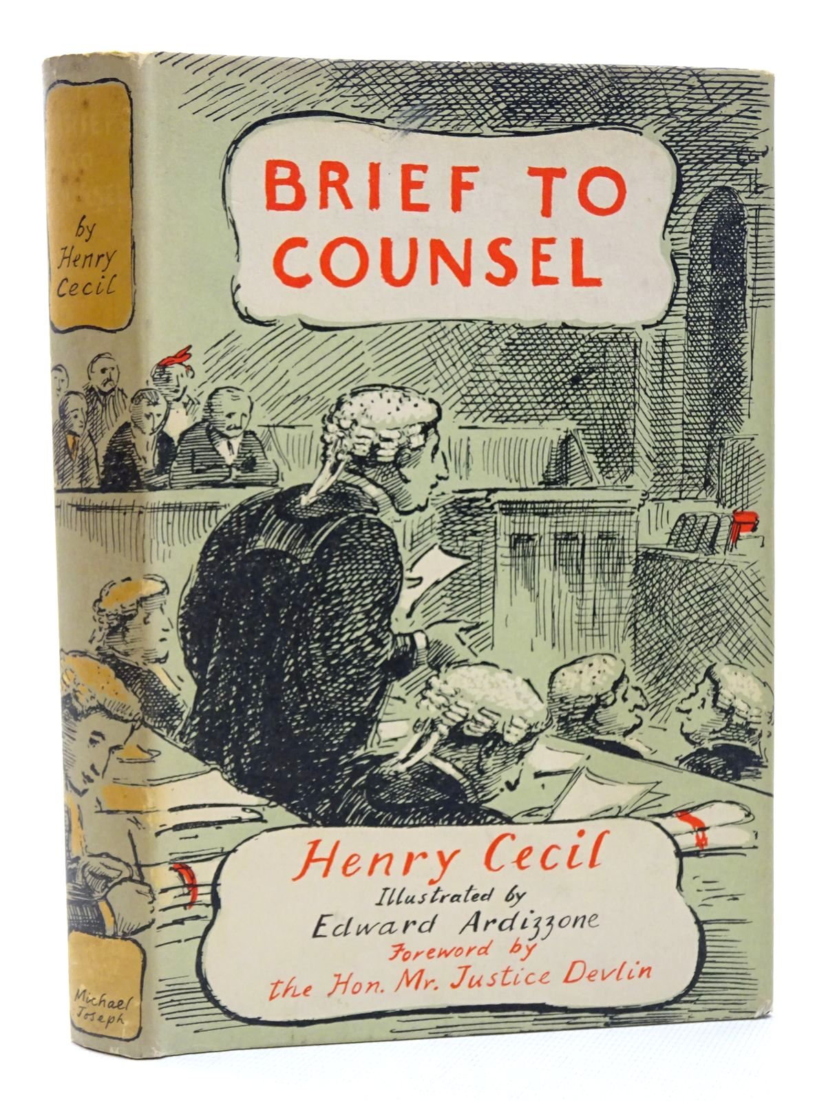 Photo of BRIEF TO COUNSEL written by Cecil, Henry illustrated by Ardizzone, Edward published by Michael Joseph (STOCK CODE: 2124287)  for sale by Stella & Rose's Books
