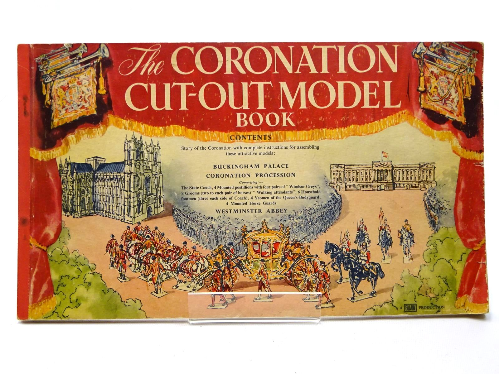 Photo of THE CORONATION CUT-OUT MODEL BOOK written by Shaw, C.K. published by Odhams Press Ltd. (STOCK CODE: 2124587)  for sale by Stella & Rose's Books