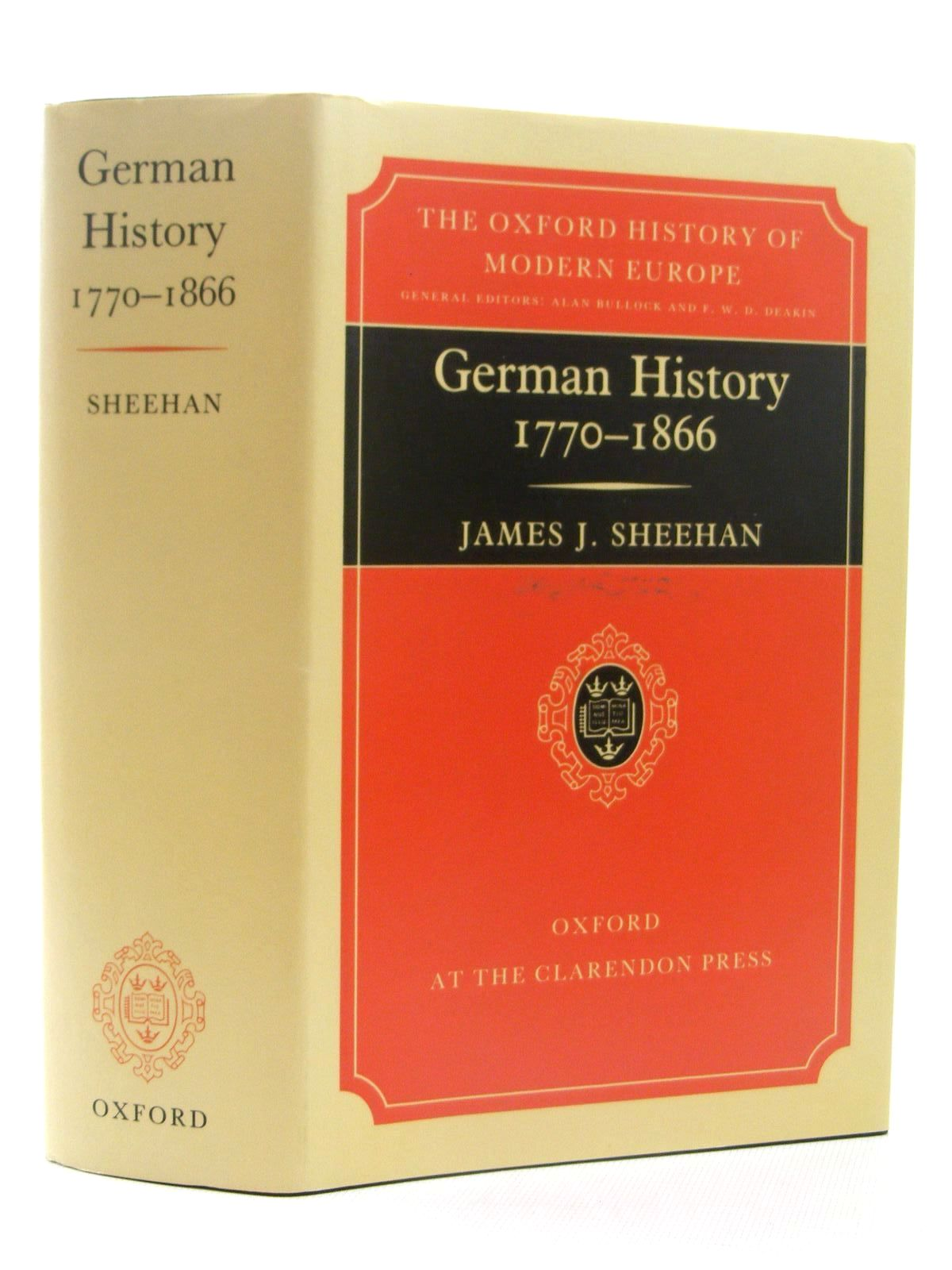 Photo of GERMAN HISTORY 1770-1866 written by Sheehan, James J. published by Oxford at the Clarendon Press (STOCK CODE: 2124842)  for sale by Stella & Rose's Books