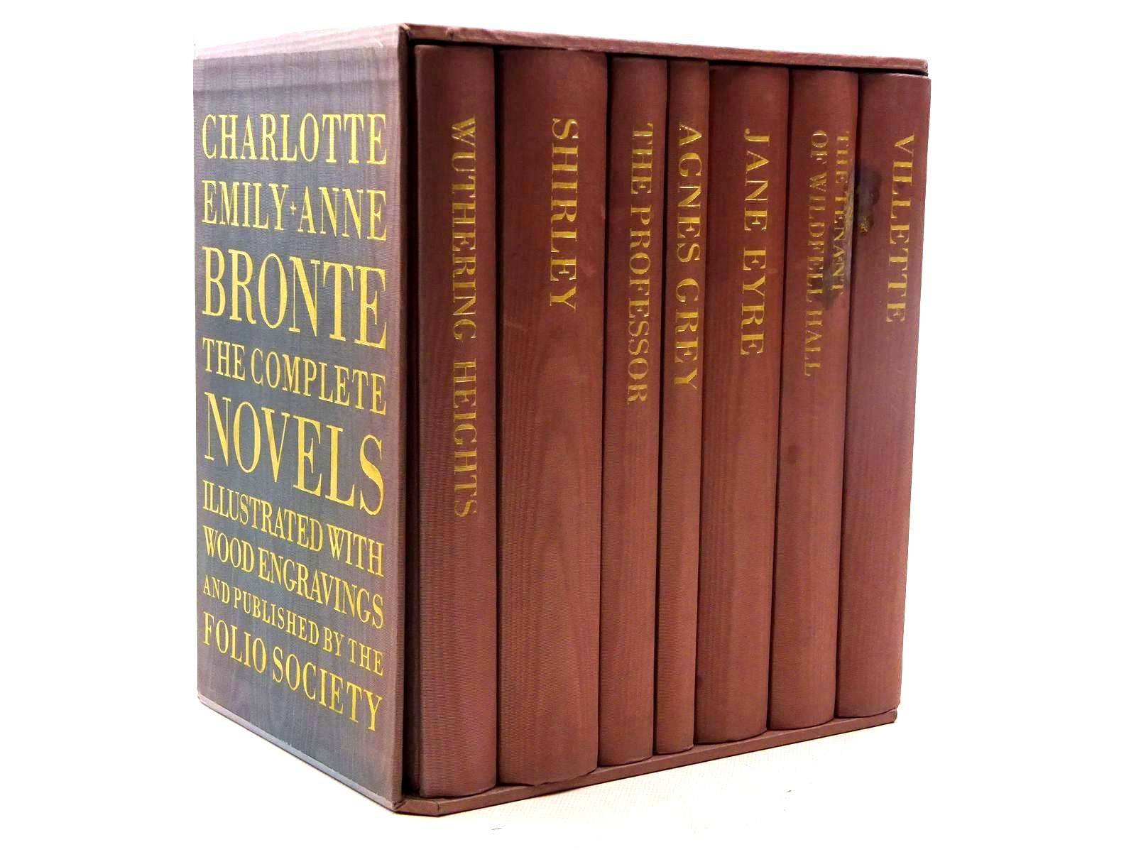 Photo of CHARLOTTE, EMILY & ANNE BRONTE THE COMPLETE NOVELS (7 VOLUMES) written by Bronte, Charlotte<br />Bronte, Emily<br />Bronte, Anne illustrated by Forster, Peter<br />Brockway, Harry<br />Stephens, Ian<br />et al.,  published by Folio Society (STOCK CODE: 2125461)  for sale by Stella & Rose's Books