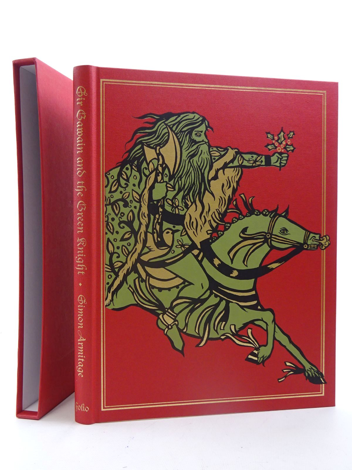 Photo of SIR GAWAIN AND THE GREEN KNIGHT written by Armitage, Simon illustrated by Sudyka, Diana published by Folio Society (STOCK CODE: 2125478)  for sale by Stella & Rose's Books