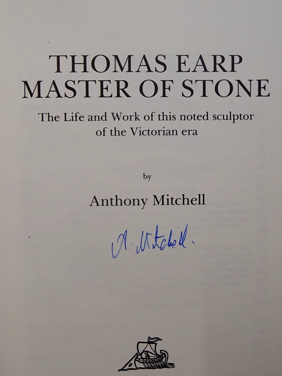 Photo of THOMAS EARP MASTER OF STONE written by Mitchell, Anthony published by Barracuda Books (STOCK CODE: 2125871)  for sale by Stella & Rose's Books