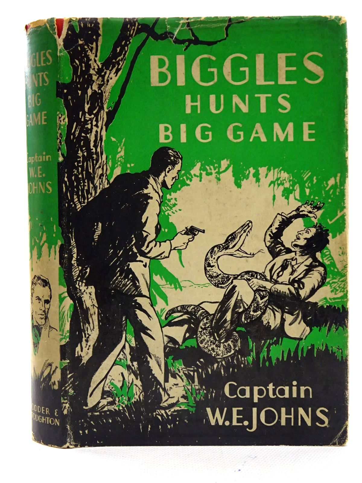 Photo of BIGGLES HUNTS BIG GAME written by Johns, W.E. illustrated by Stead,  published by Hodder & Stoughton (STOCK CODE: 2126010)  for sale by Stella & Rose's Books