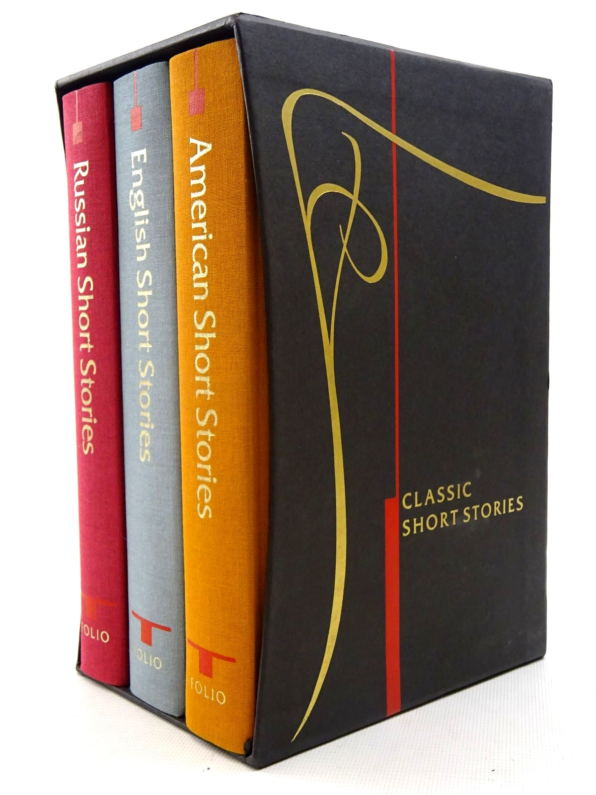 Photo of CLASSIC SHORT STORIES (3 VOLUMES) ENGLISH, RUSSIAN & AMERICAN written by Pushkin, Alexander<br />Irving, Washington<br />Gaskell, Mrs.<br />et al,  illustrated by Waters, Rod<br />Gulla, Paul<br />Pisarev, Roman published by Folio Society (STOCK CODE: 2126050)  for sale by Stella & Rose's Books