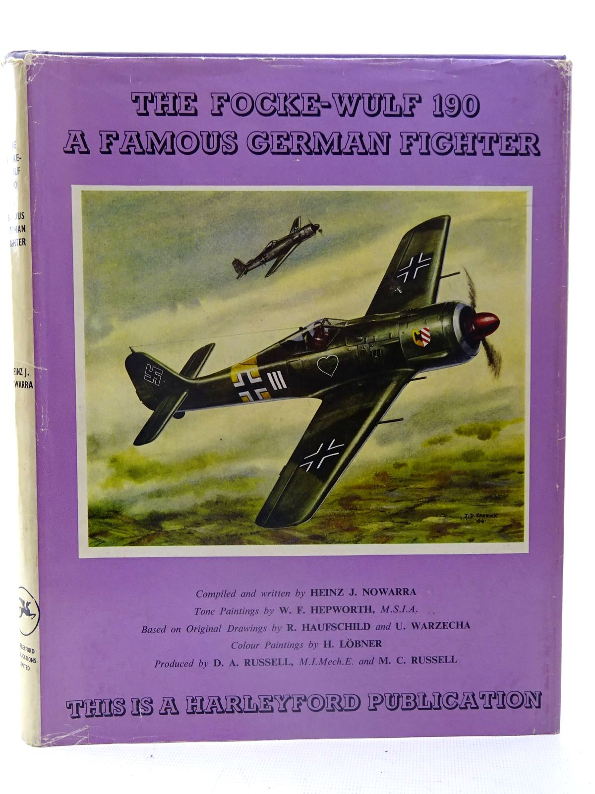 Photo of THE FOCKE-WULF 190 A FAMOUS GERMAN FIGHTER written by Nowarra, Heinz J. illustrated by Hepworth, W.F. published by Harleyford Publications Limited (STOCK CODE: 2126116)  for sale by Stella & Rose's Books