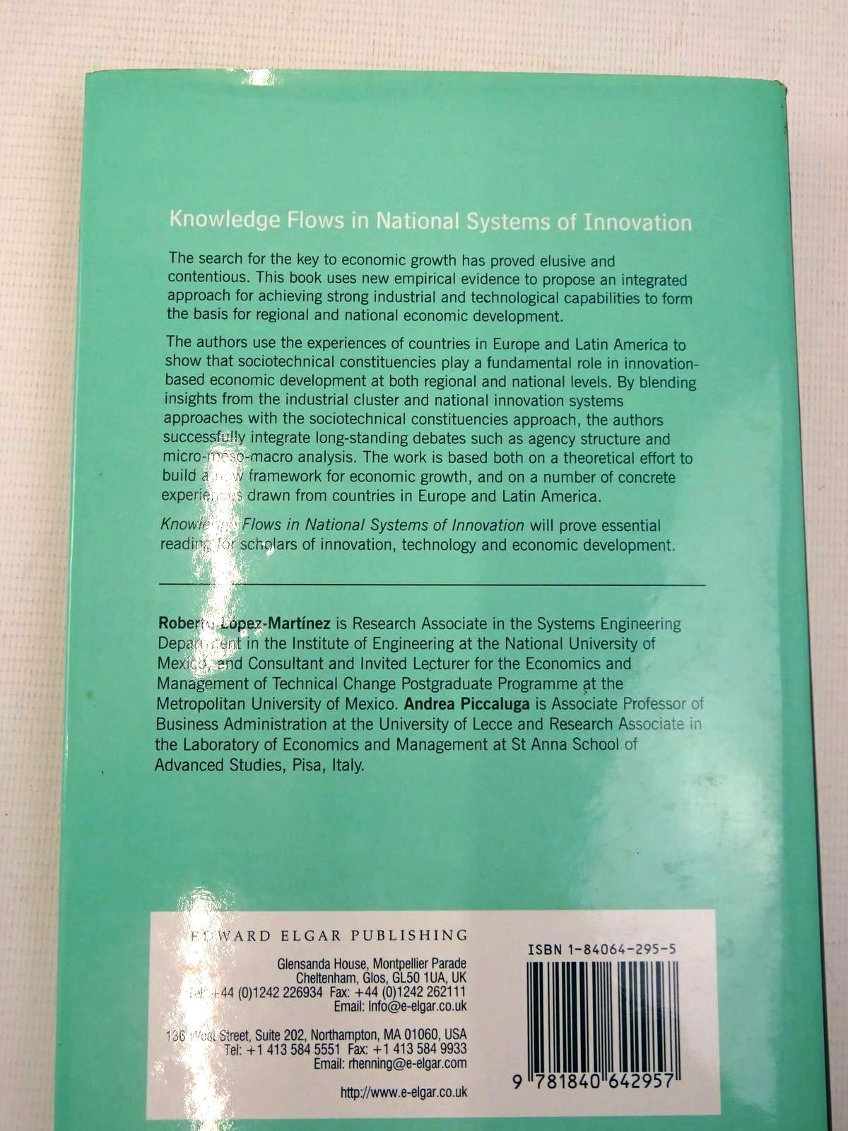 Photo of KNOWLEDGE FLOWS IN NATIONAL SYSTEMS OF INNOVATION written by Lopez-Martinez, Roberto E.<br />Piccaluga, Andrea published by Edward Elgar (STOCK CODE: 2126320)  for sale by Stella & Rose's Books