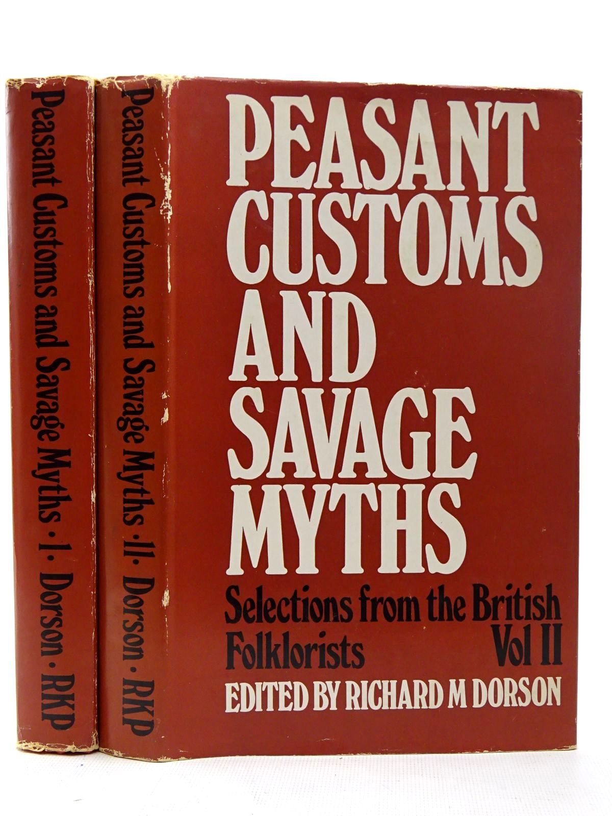 Photo of PEASANT CUSTOMS AND SAVAGE MYTHS (2 VOLUMES) written by Dorson, Richard M. published by Routledge & Kegan Paul (STOCK CODE: 2126469)  for sale by Stella & Rose's Books