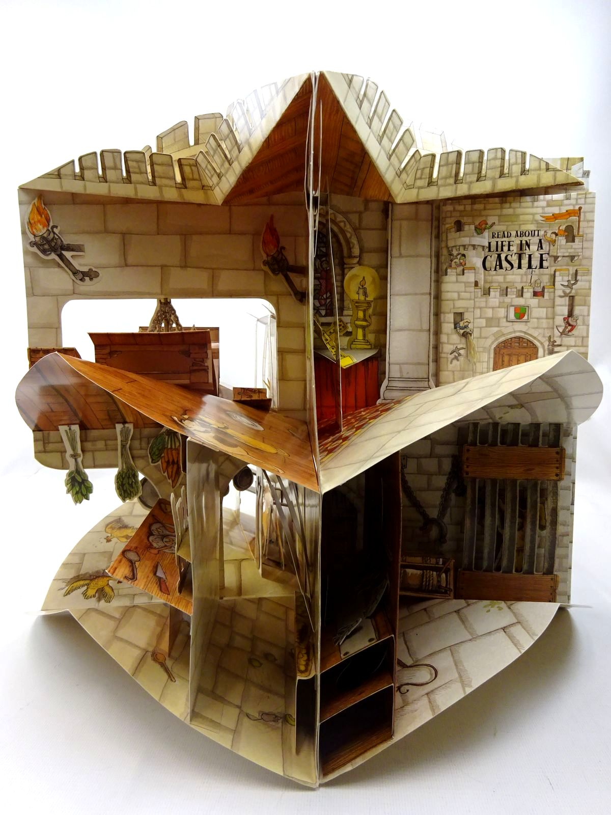 Photo of LIFE IN A CASTLE A 3-DIMENSIONAL CAROUSEL BOOK illustrated by Hutchinson, Tim published by Tango Books (STOCK CODE: 2126603)  for sale by Stella & Rose's Books