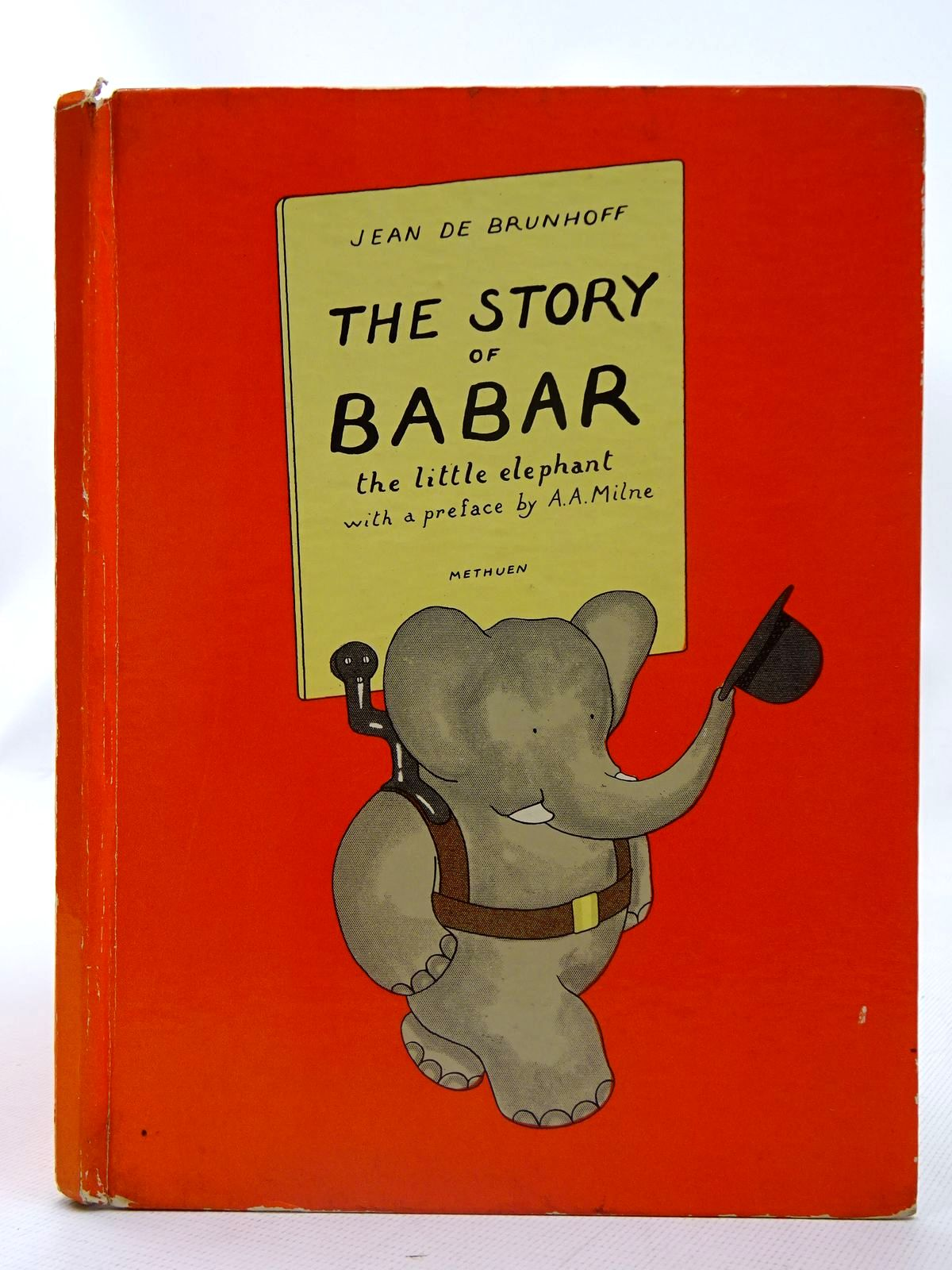 Photo of THE STORY OF BABAR THE LITTLE ELEPHANT written by De Brunhoff, Jean<br />Milne, A.A. illustrated by De Brunhoff, Jean published by Methuen & Co. Ltd. (STOCK CODE: 2126696)  for sale by Stella & Rose's Books