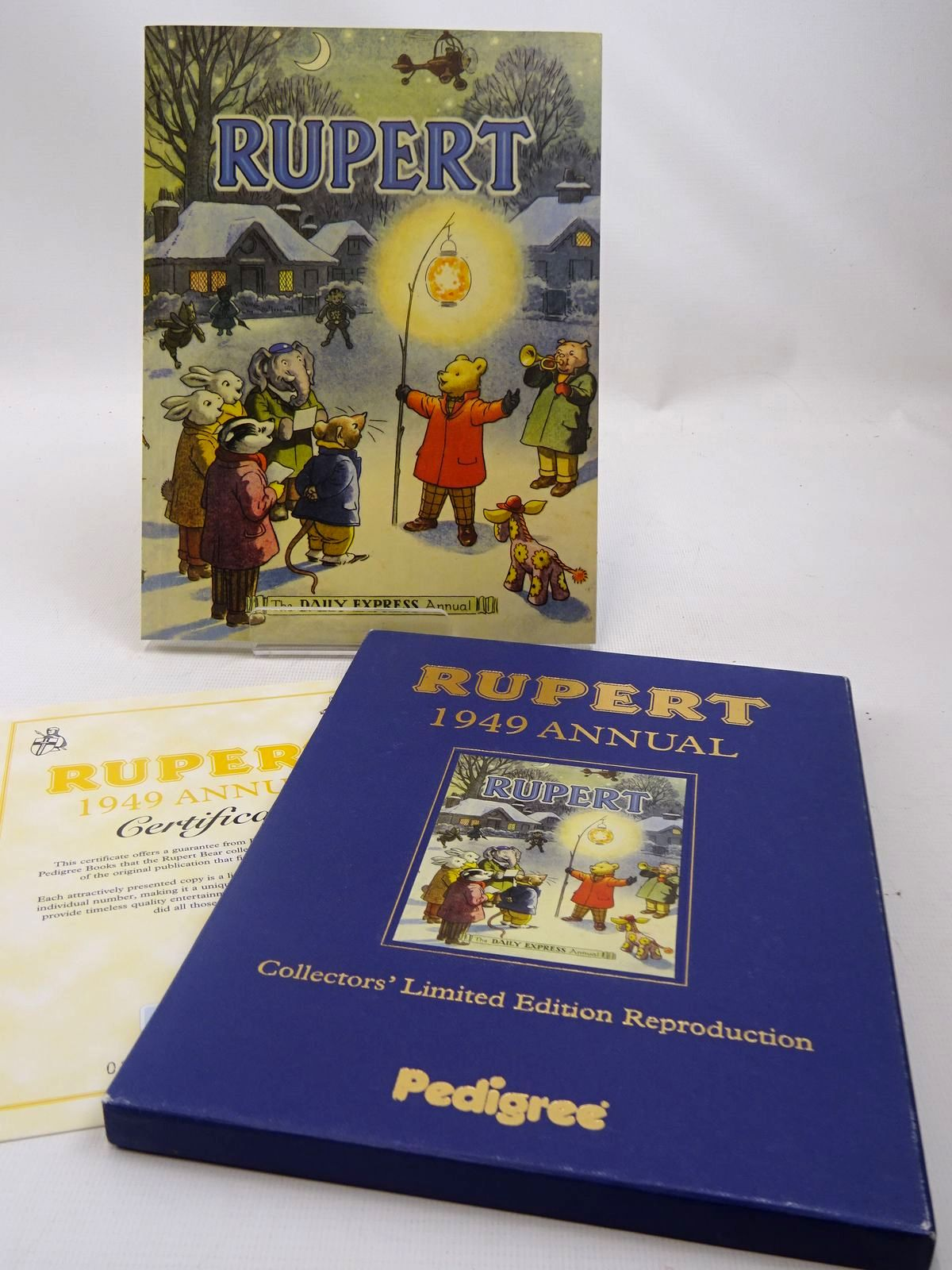 Photo of RUPERT ANNUAL 1949 (FACSIMILE) written by Bestall, Alfred illustrated by Bestall, Alfred published by Pedigree Books Limited (STOCK CODE: 2127327)  for sale by Stella & Rose's Books