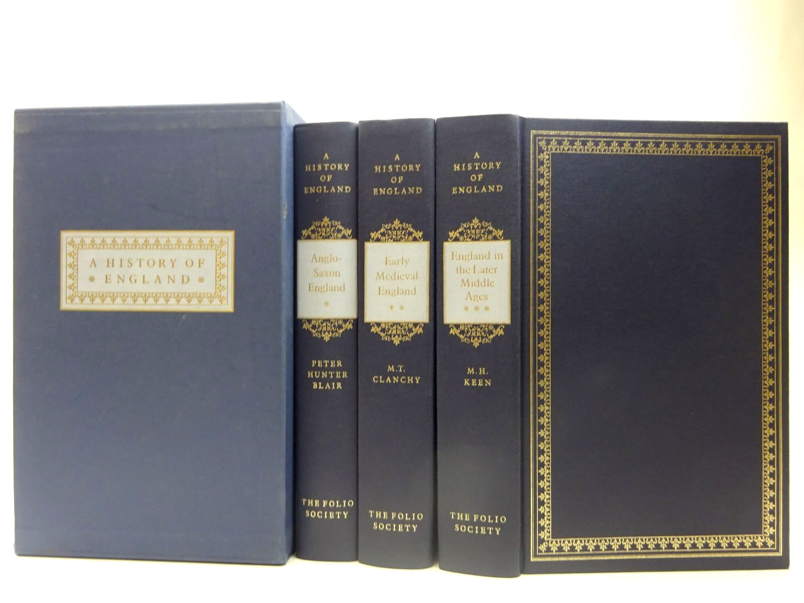Photo of A HISTORY OF ENGLAND (3 VOLUMES) written by Keen, M.H.<br />Blair, Peter Hunter<br />Clanchy, M.T. published by Folio Society (STOCK CODE: 2127444)  for sale by Stella & Rose's Books