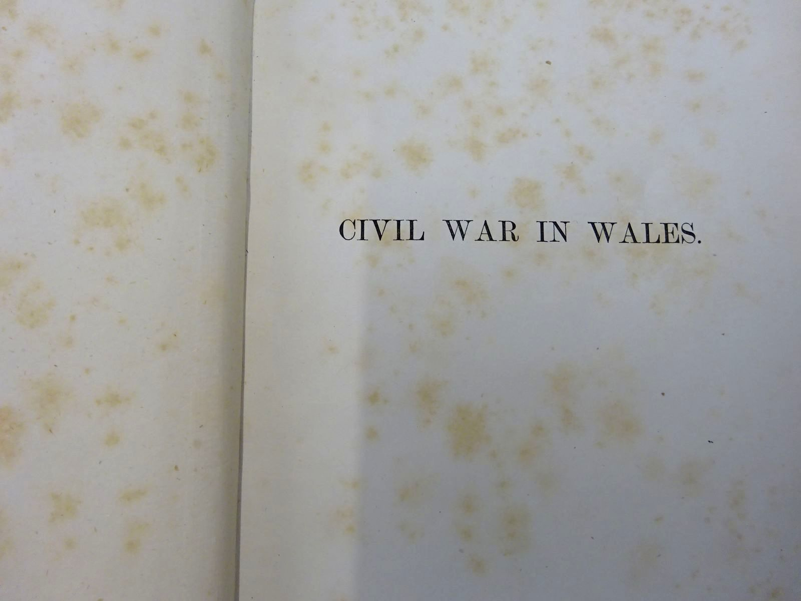 Photo of MEMOIRS OF THE CIVIL WAR IN WALES AND THE MARCHES 1642-1649 (2 VOLUMES) written by Phillips, John Roland published by Longmans, Green & Co. (STOCK CODE: 2127590)  for sale by Stella & Rose's Books