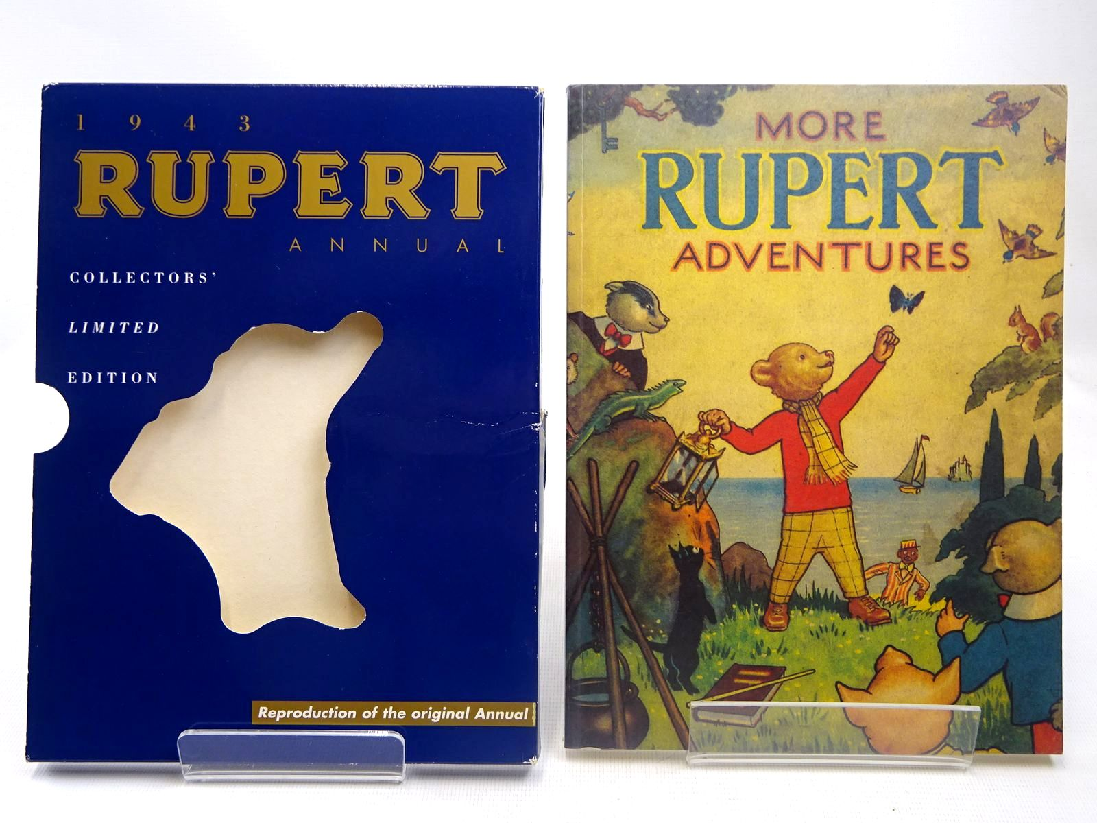 Photo of RUPERT ANNUAL 1943 (FACSIMILE) - MORE RUPERT ADVENTURES written by Bestall, Alfred illustrated by Bestall, Alfred published by Pedigree Books Limited (STOCK CODE: 2127837)  for sale by Stella & Rose's Books