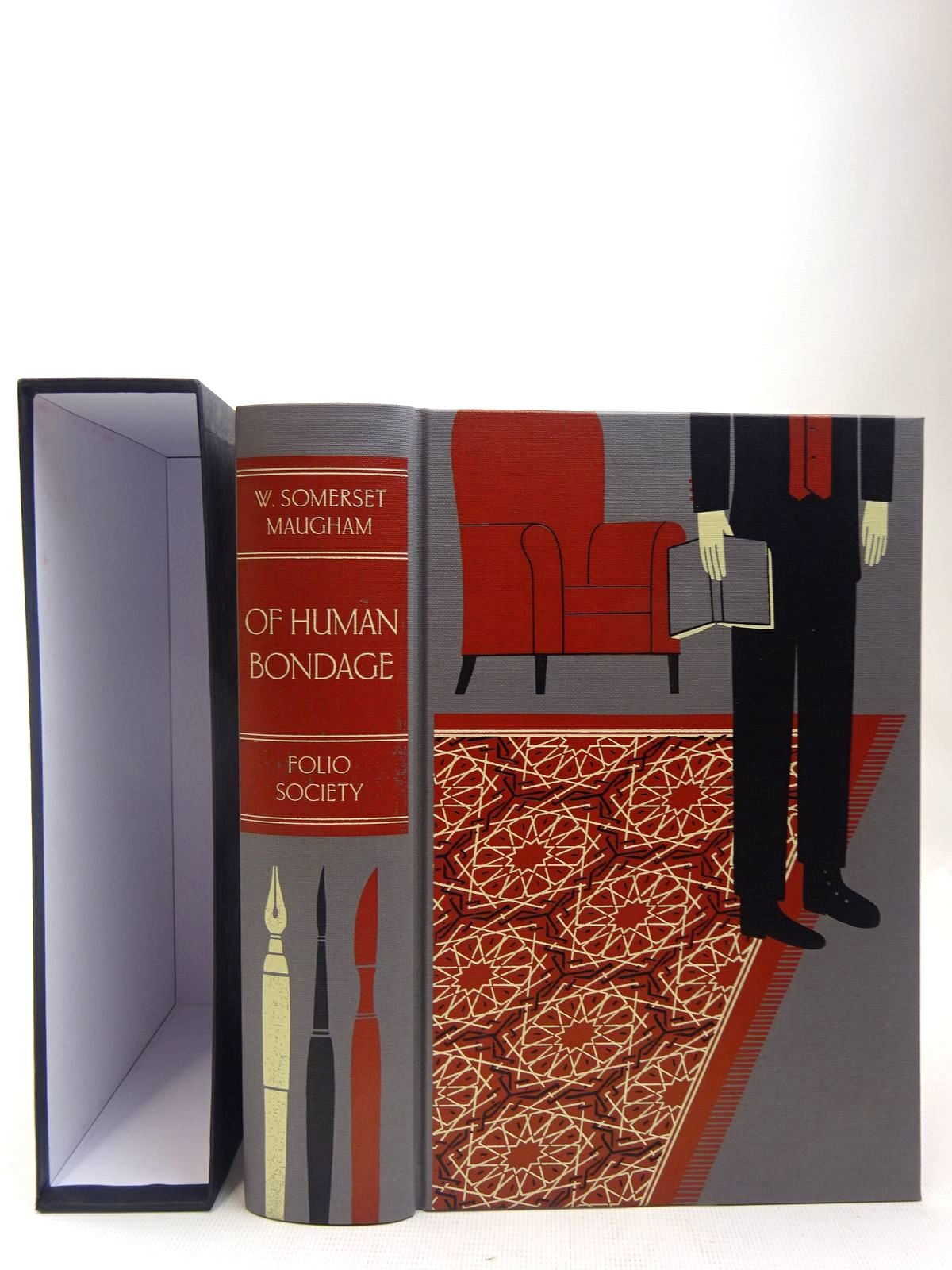Photo of OF HUMAN BONDAGE written by Maugham, W. Somerset illustrated by Kirkham, Michael published by Folio Society (STOCK CODE: 2127998)  for sale by Stella & Rose's Books