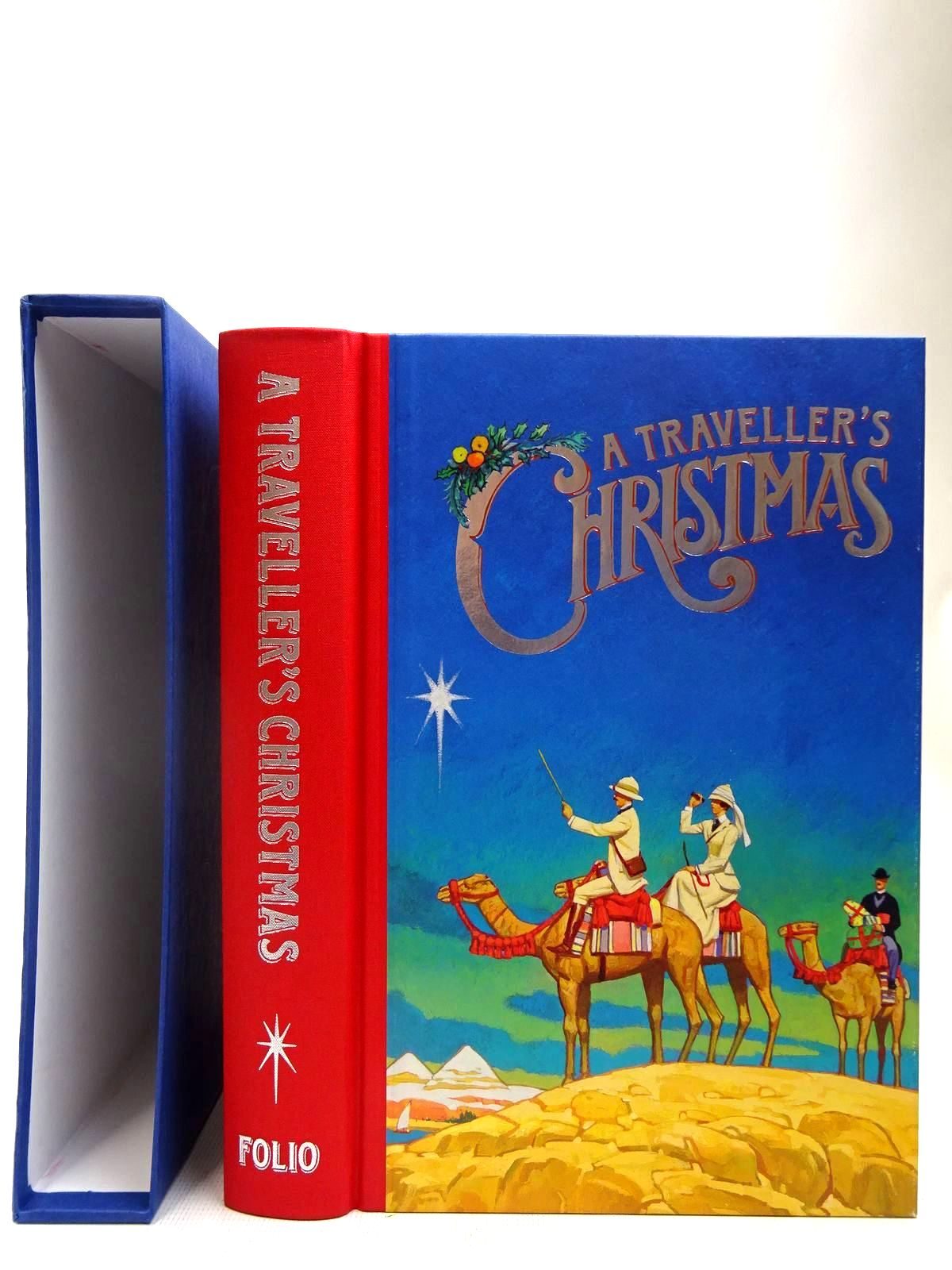 Photo of A TRAVELLER'S CHRISTMAS written by Bradbury, Sue illustrated by Slater, Paul published by Folio Society (STOCK CODE: 2128010)  for sale by Stella & Rose's Books