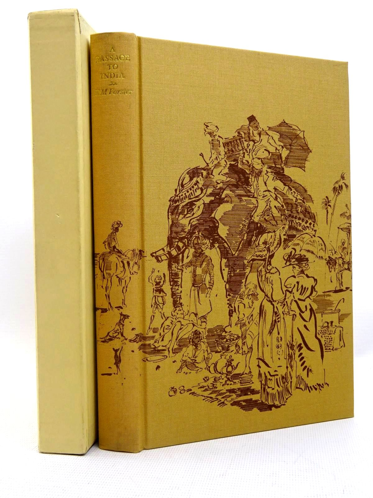 Photo of A PASSAGE TO INDIA written by Forster, E.M.<br />Holroyd, Michael illustrated by Ribbons, Ian published by Folio Society (STOCK CODE: 2128024)  for sale by Stella & Rose's Books