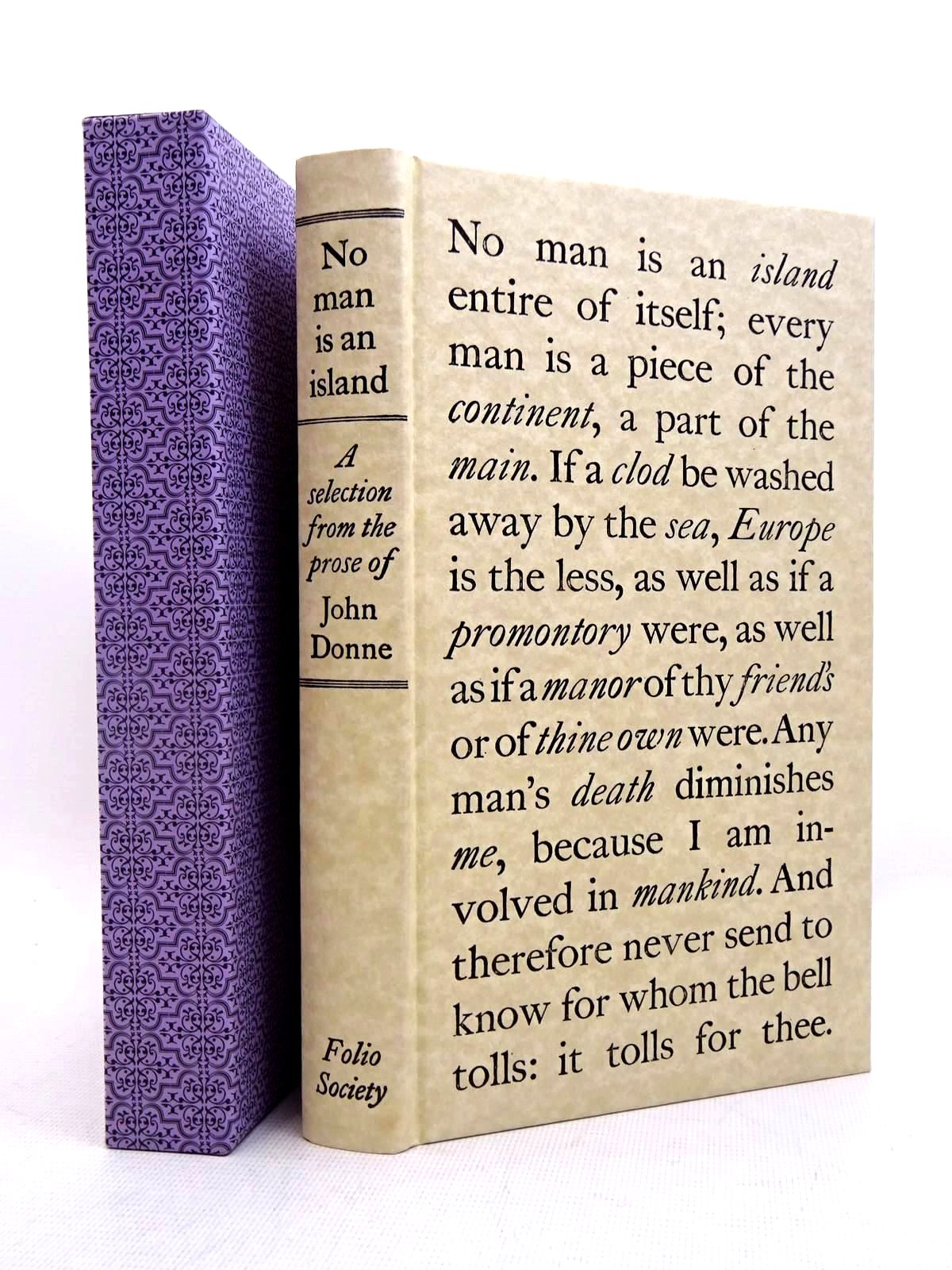 Photo of NO MAN IS AN ISLAND written by Donne, John<br />Scott, Rivers published by Folio Society (STOCK CODE: 2128031)  for sale by Stella & Rose's Books