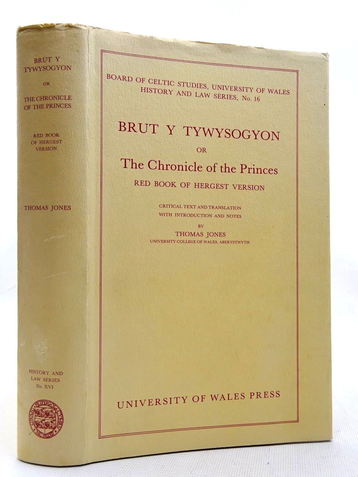 Photo of BRUT Y TYWYSOGYON OR THE CHRONICLE OF THE PRINCES written by Jones, Thomas published by University of Wales (STOCK CODE: 2128090)  for sale by Stella & Rose's Books