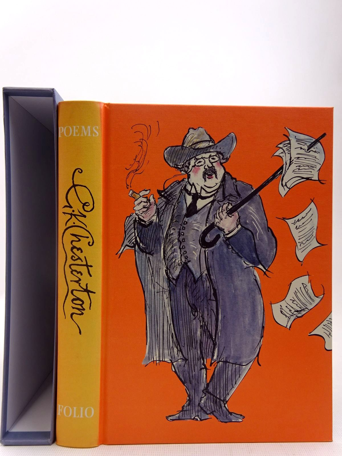 Photo of POEMS written by Chesterton, G.K.<br />Baker, Kenneth illustrated by Lawrence, John published by Folio Society (STOCK CODE: 2128204)  for sale by Stella & Rose's Books