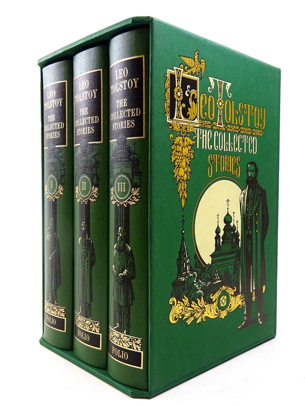 Photo of THE COLLECTED STORIES (3 VOLUMES) written by Tolstoy, Leo illustrated by Pisarev, Roman published by Folio Society (STOCK CODE: 2128323)  for sale by Stella & Rose's Books